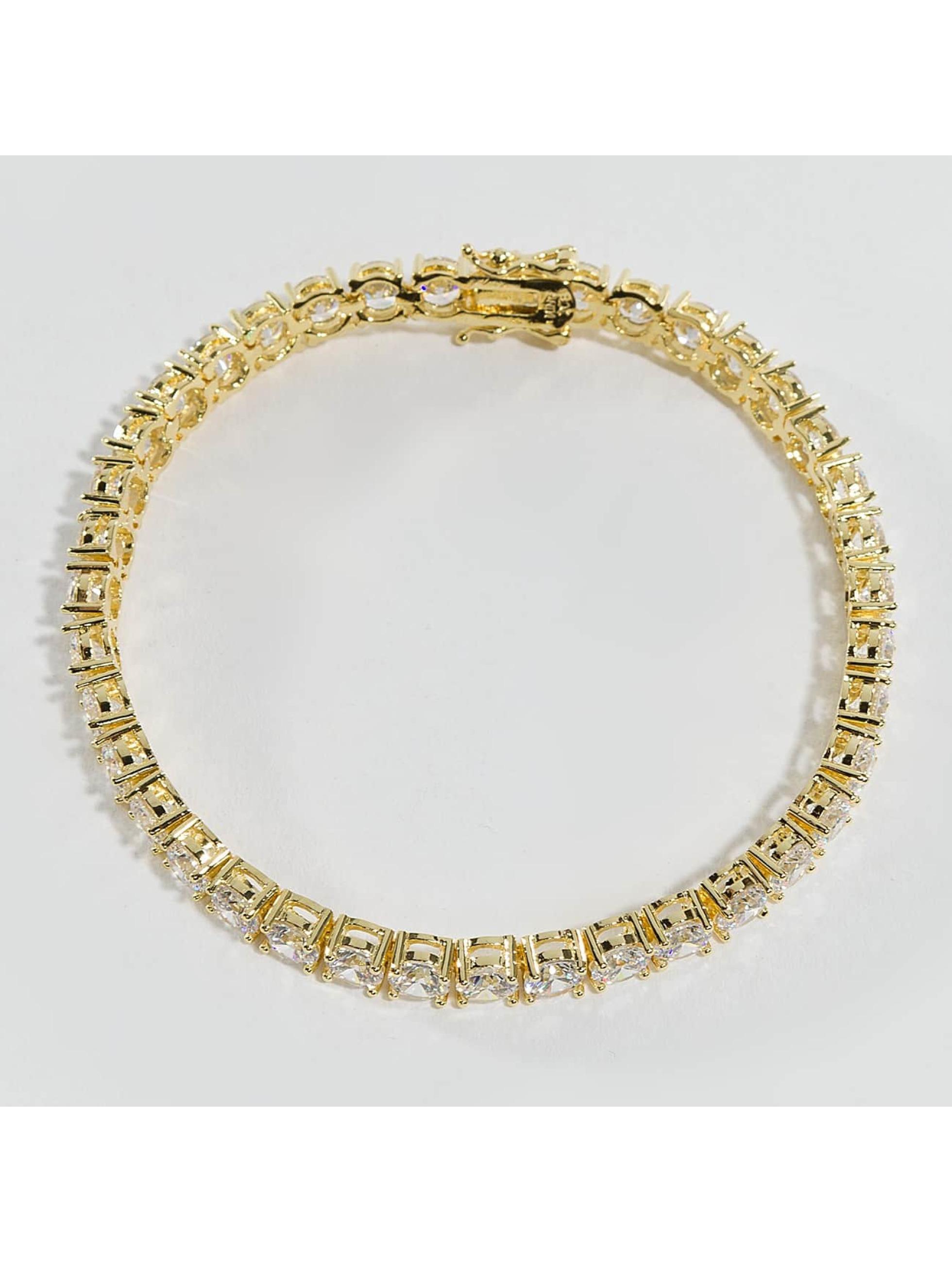 KING ICE Pulsera Gold_Plated 5mm Single Row oro
