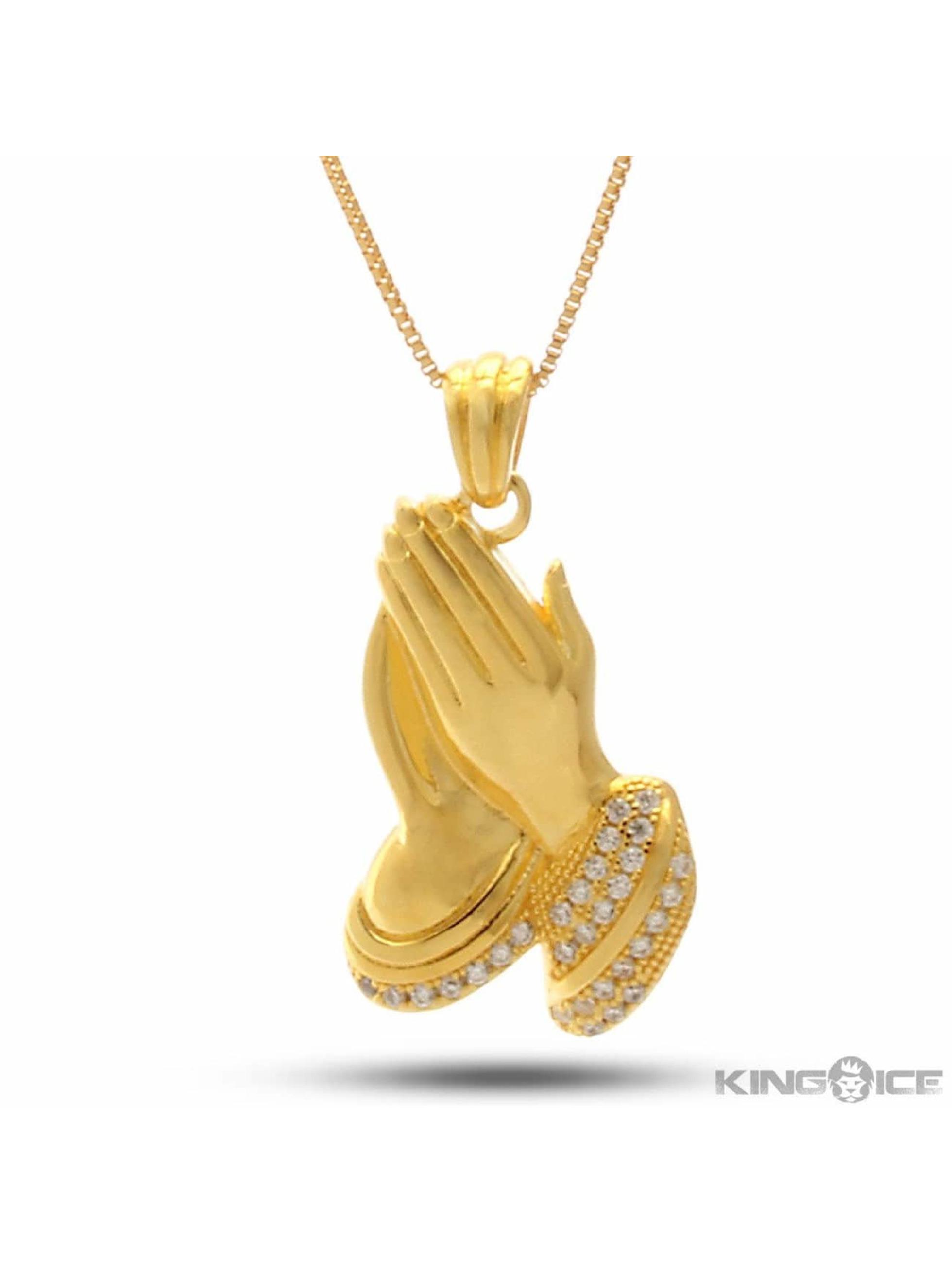 KING ICE Retiazky Praying Hand zlatá