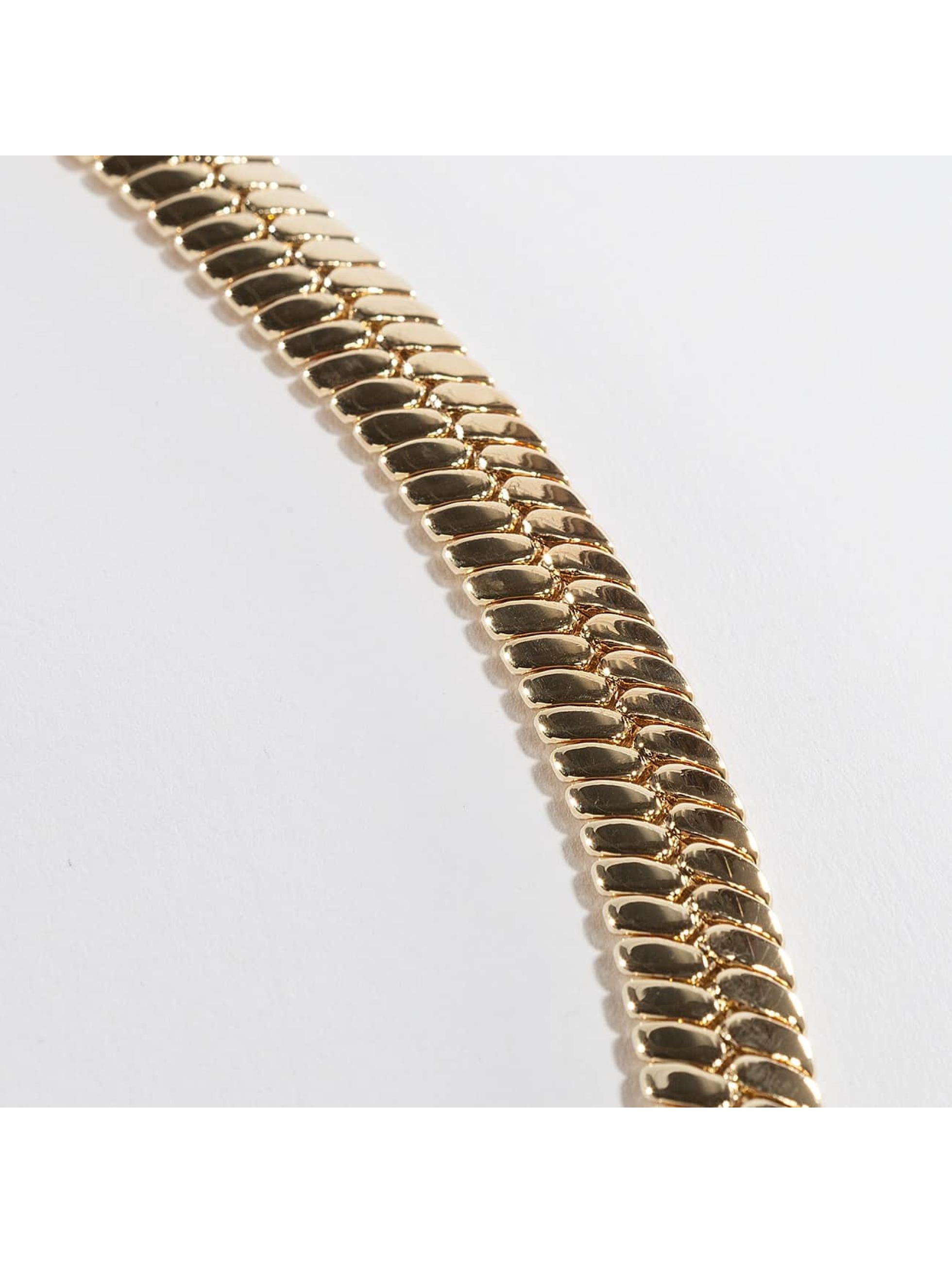 KING ICE Retiazky Gold_Plated 10mm Thick Herringbone zlatá