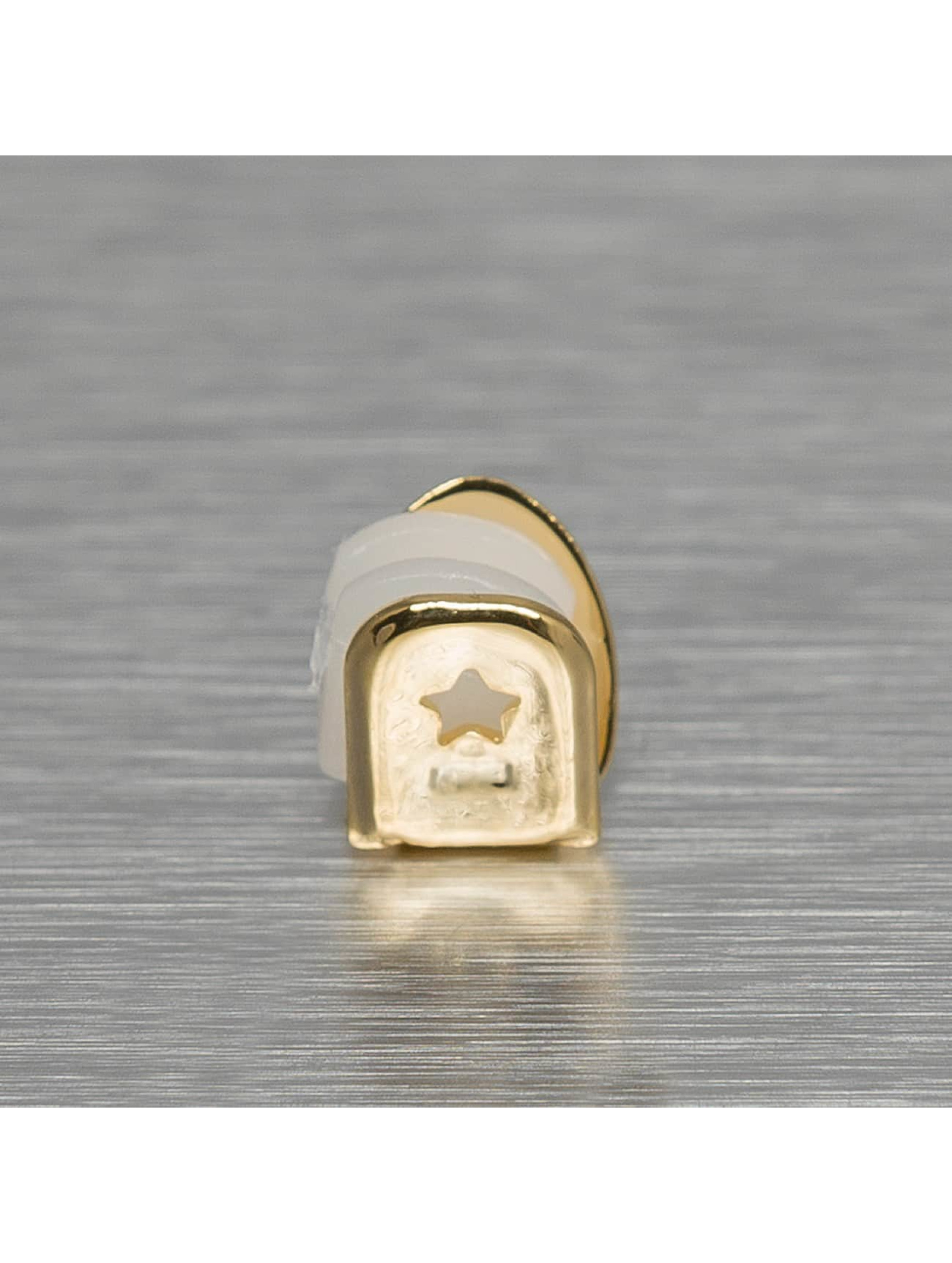 KING ICE Sonstige Single Tooth goldfarben