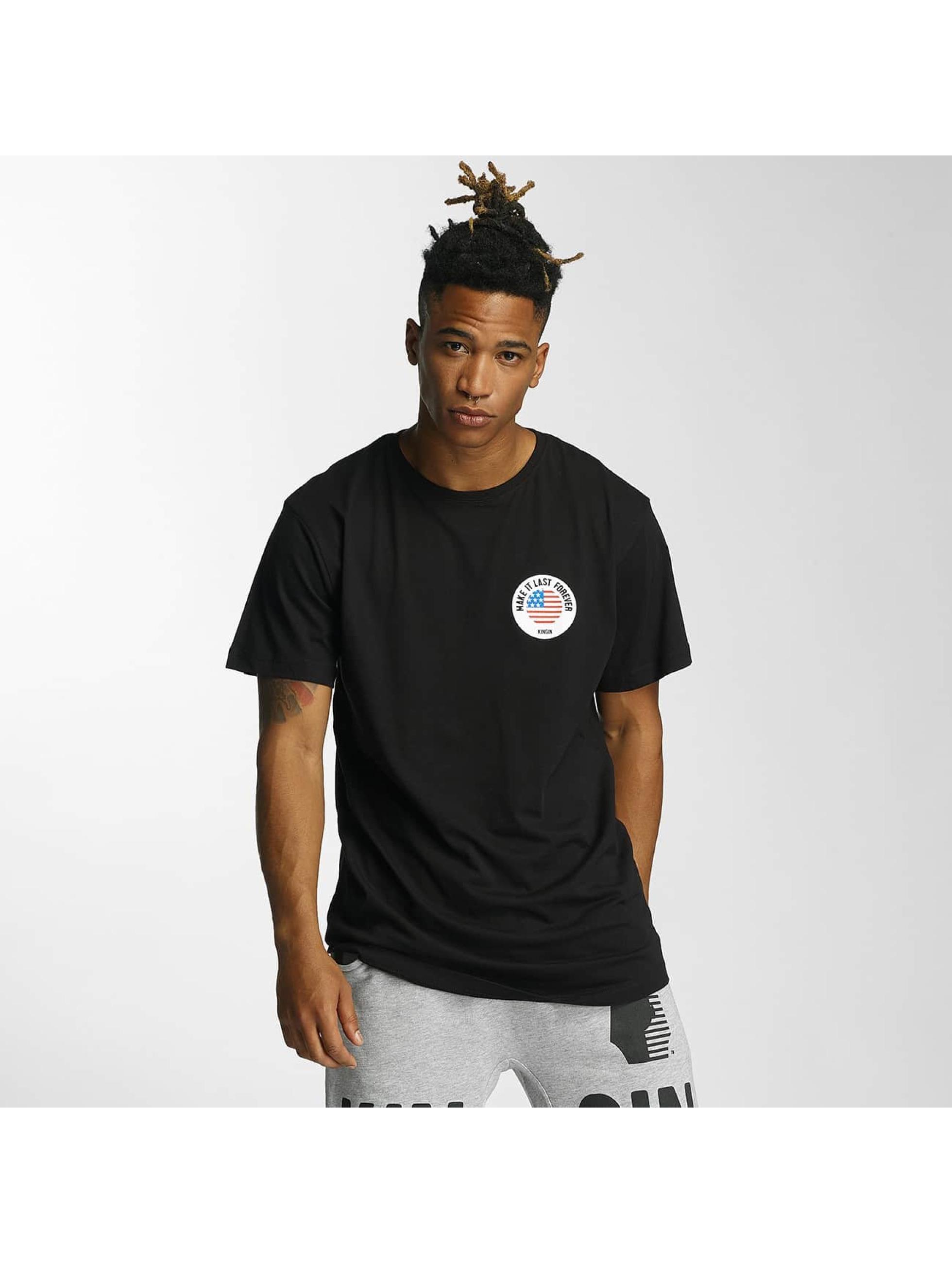 Kingin T-paidat Melrose musta