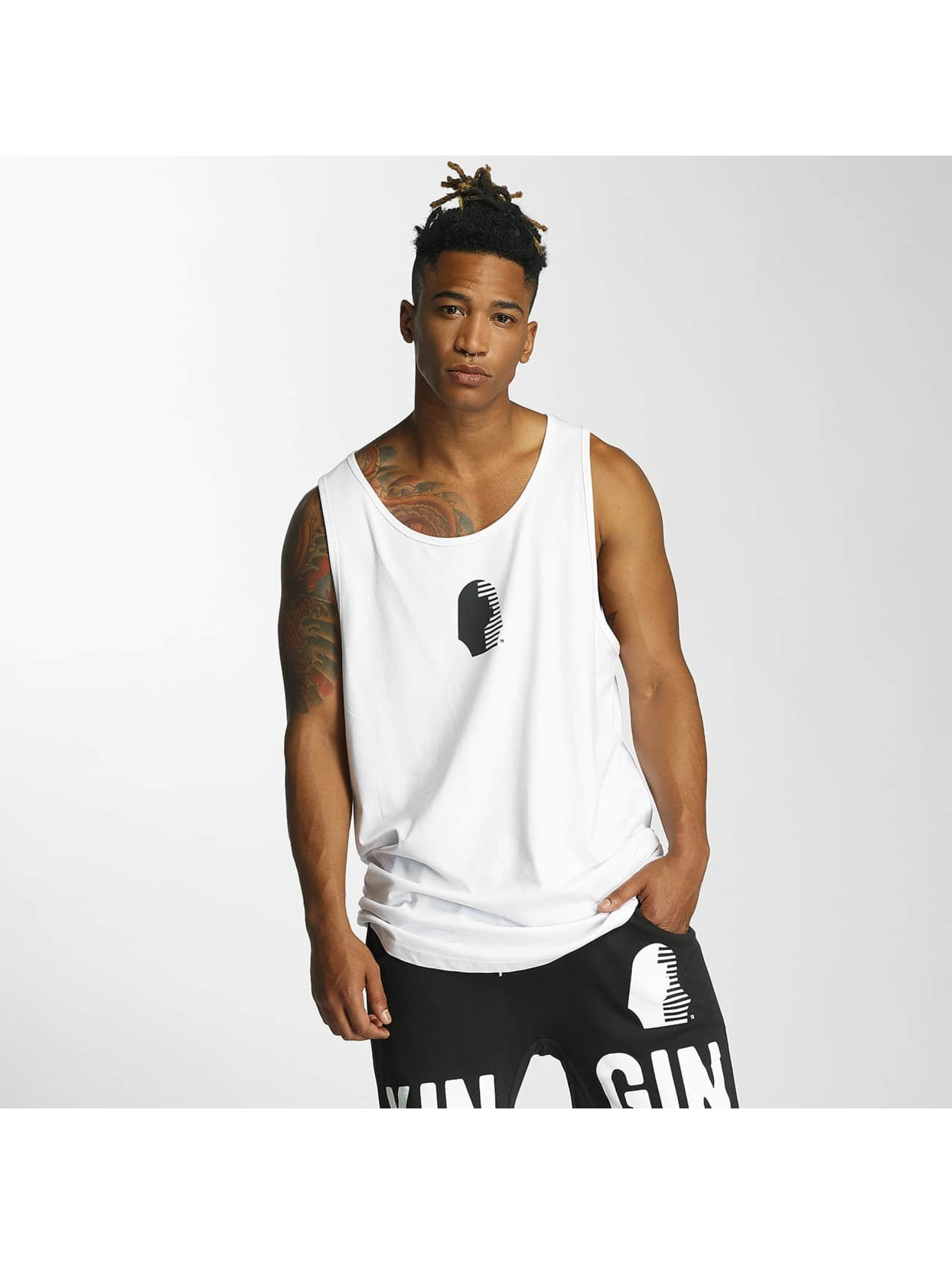 Kingin Tank Tops Ra white