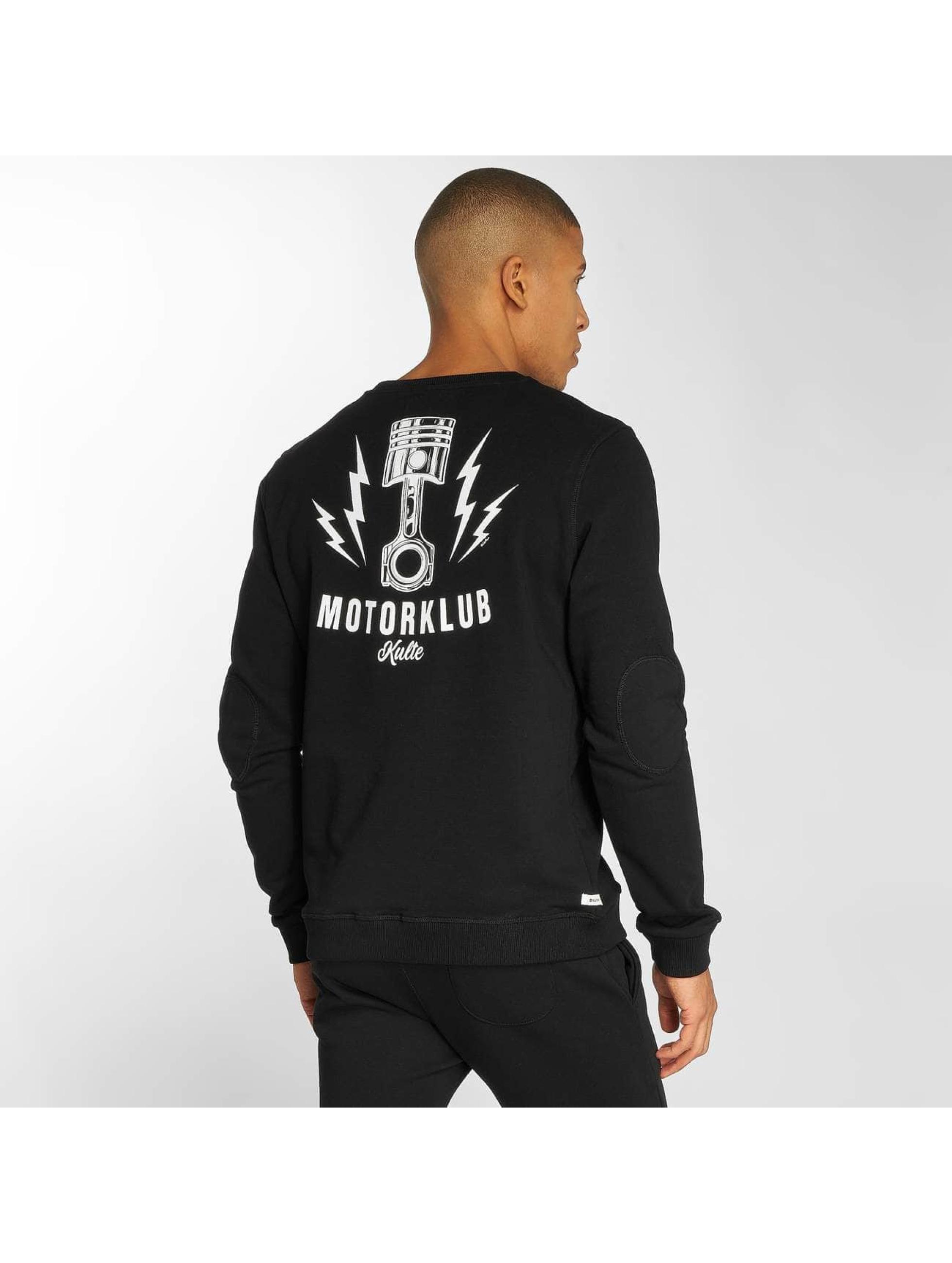 Kulte Pullover Motorklub schwarz