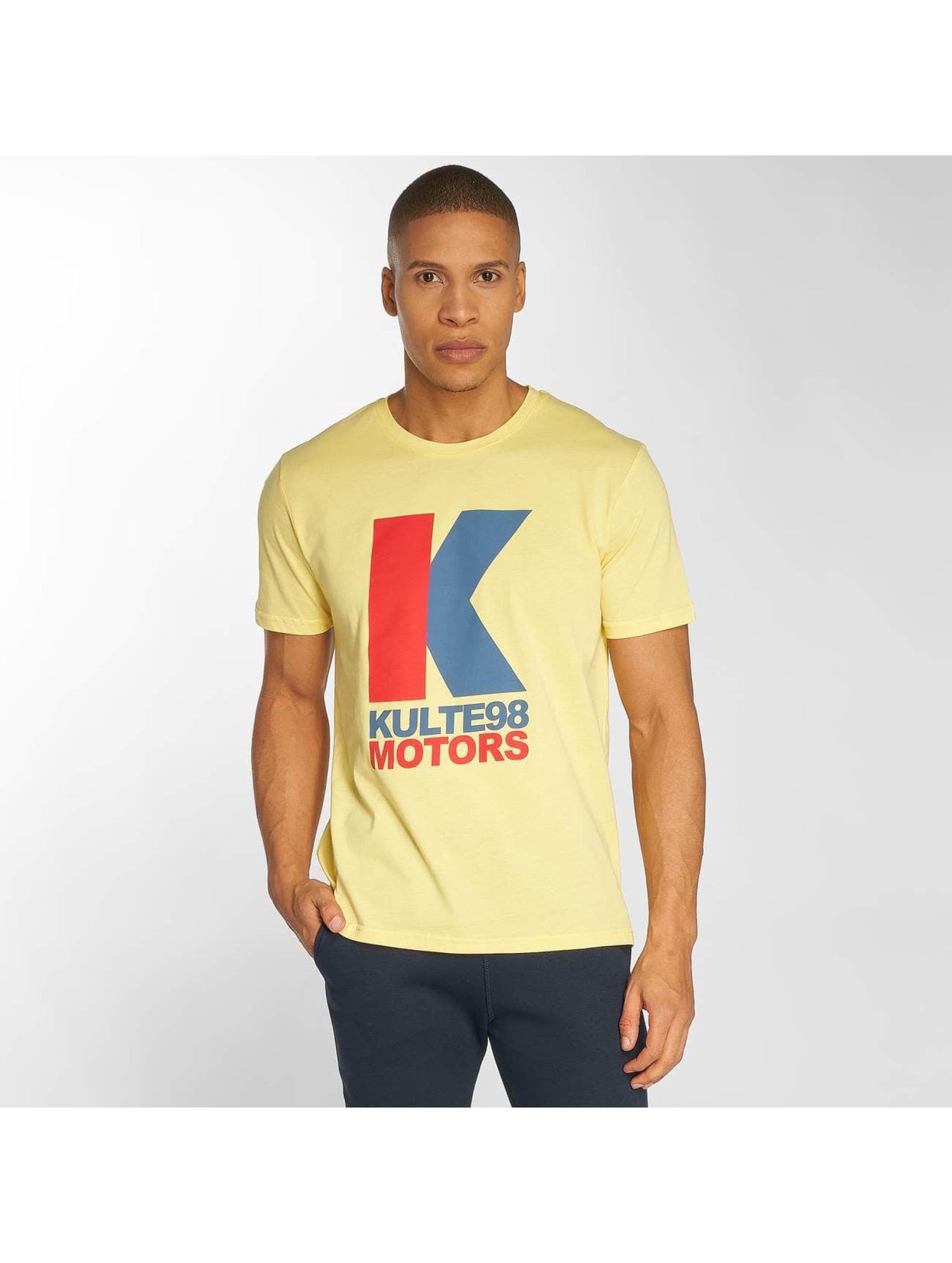Kulte T-Shirt Motor gelb