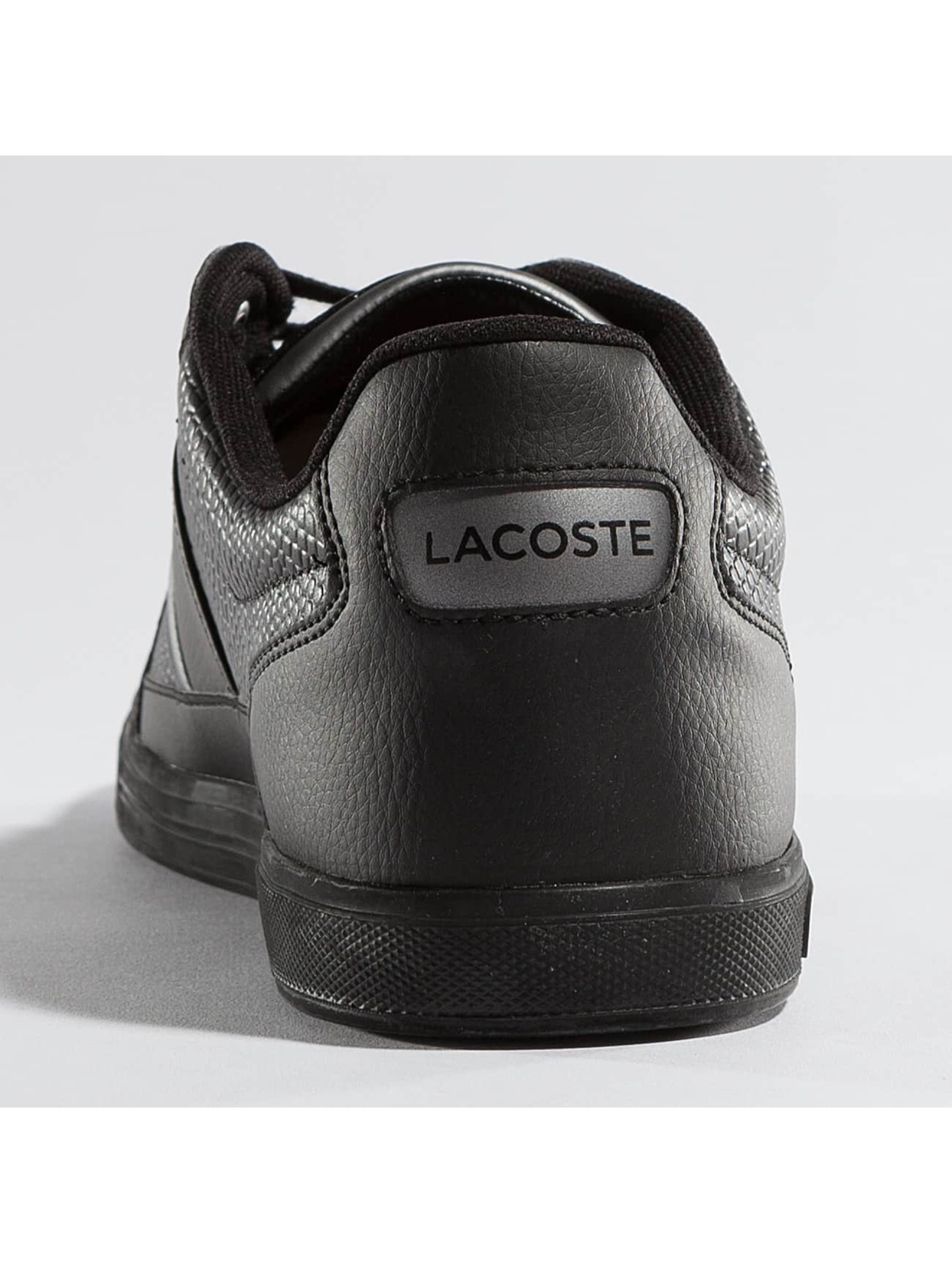 lacoste europa 417 spm noir homme baskets lacoste acheter pas cher chaussures 336323. Black Bedroom Furniture Sets. Home Design Ideas