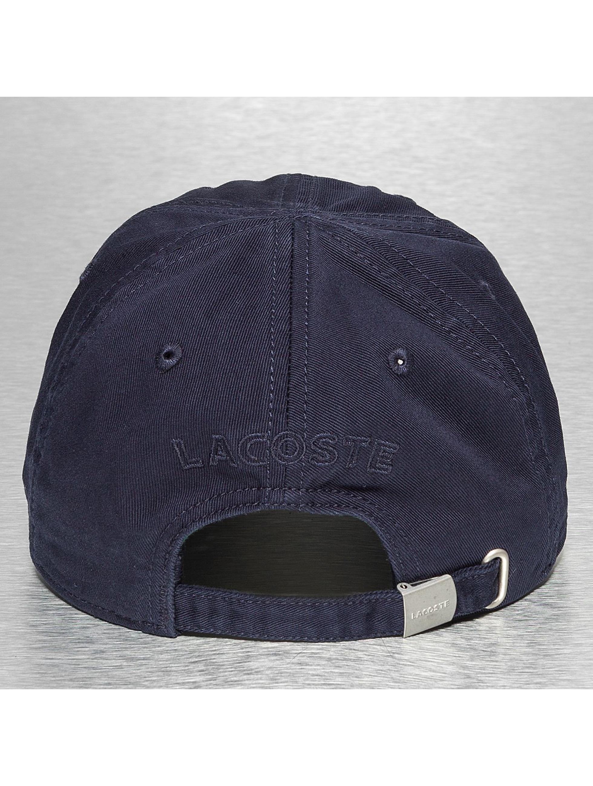 Lacoste Classic Snapback Cap Gabardine Croc Strapback Cap blau
