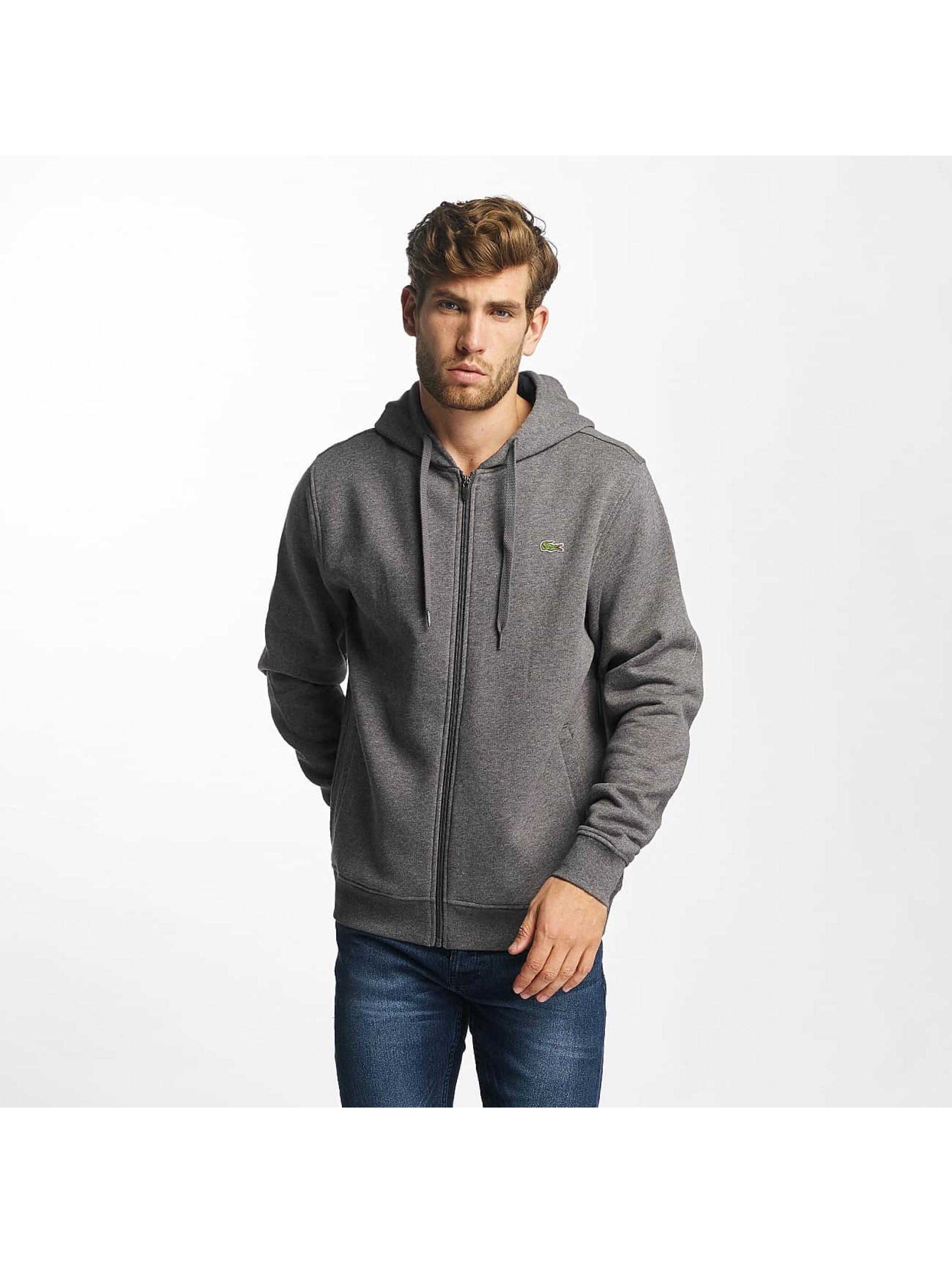 Lacoste Classic Classic gris Sweat capuche zippé homme
