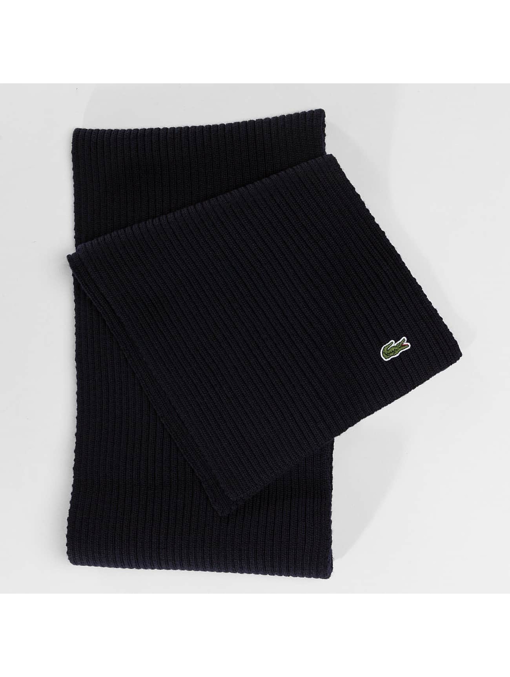 Lacoste Echarpe Knitted bleu