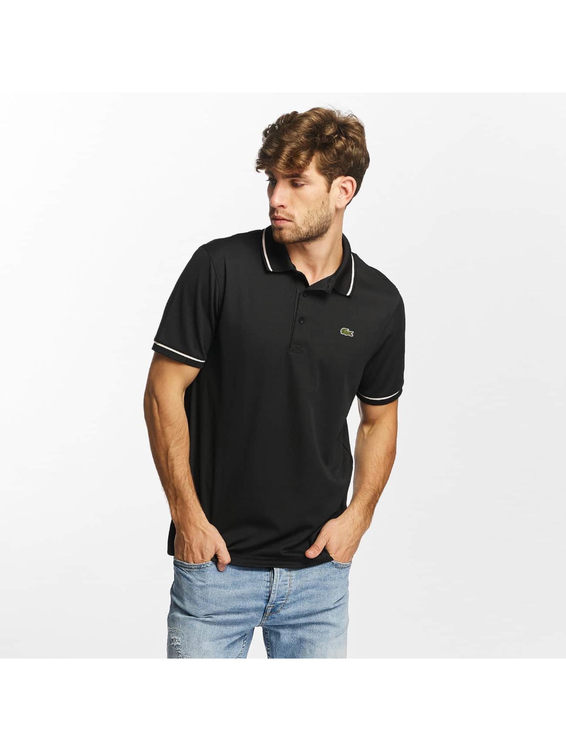 Lacoste Poloskjorter Short Sleeved Ribbed Collar svart