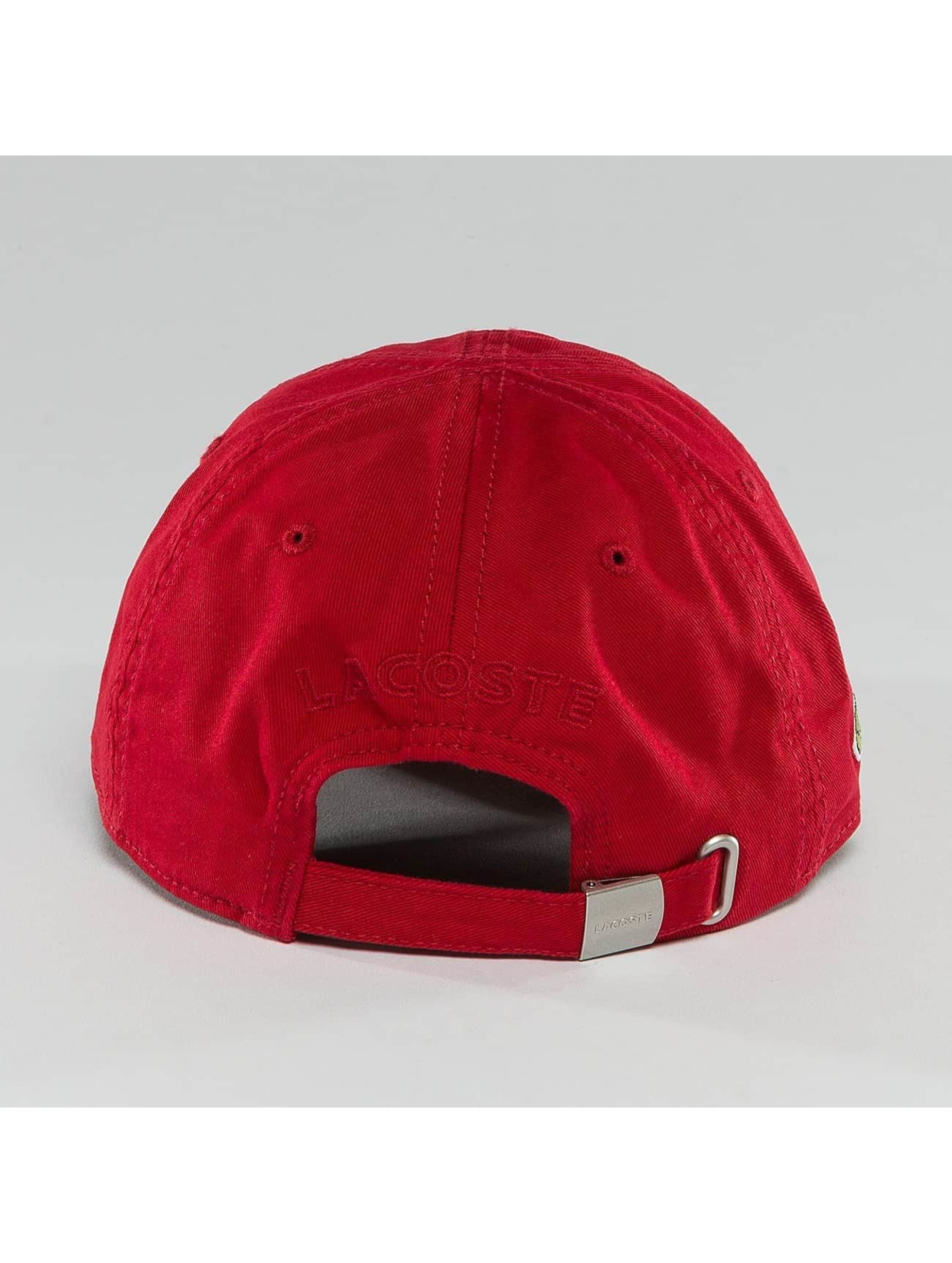 Lacoste Snapback Cap Gabardine Croc red