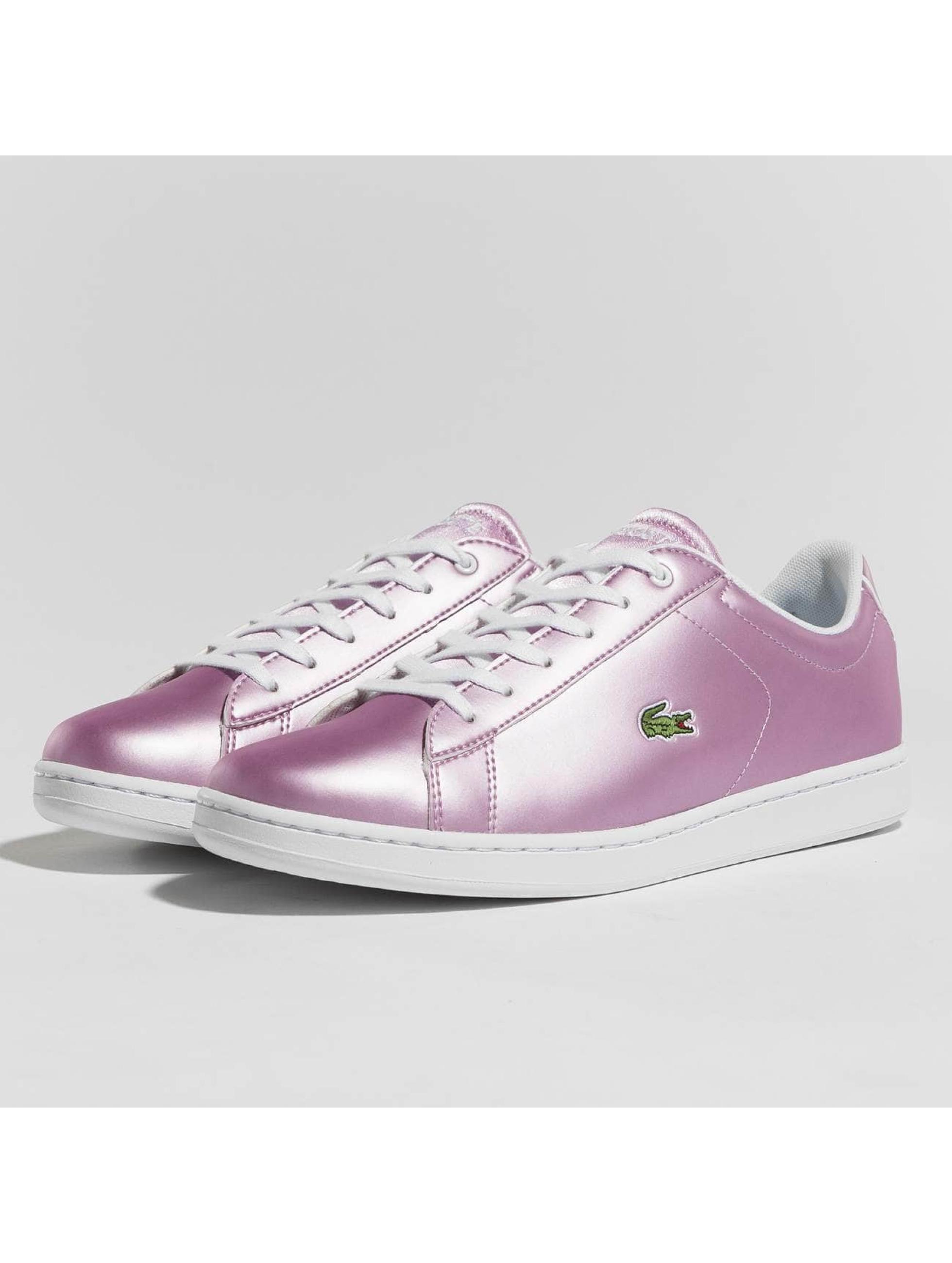 lacoste damen sneaker carnaby evo in pink 438455. Black Bedroom Furniture Sets. Home Design Ideas