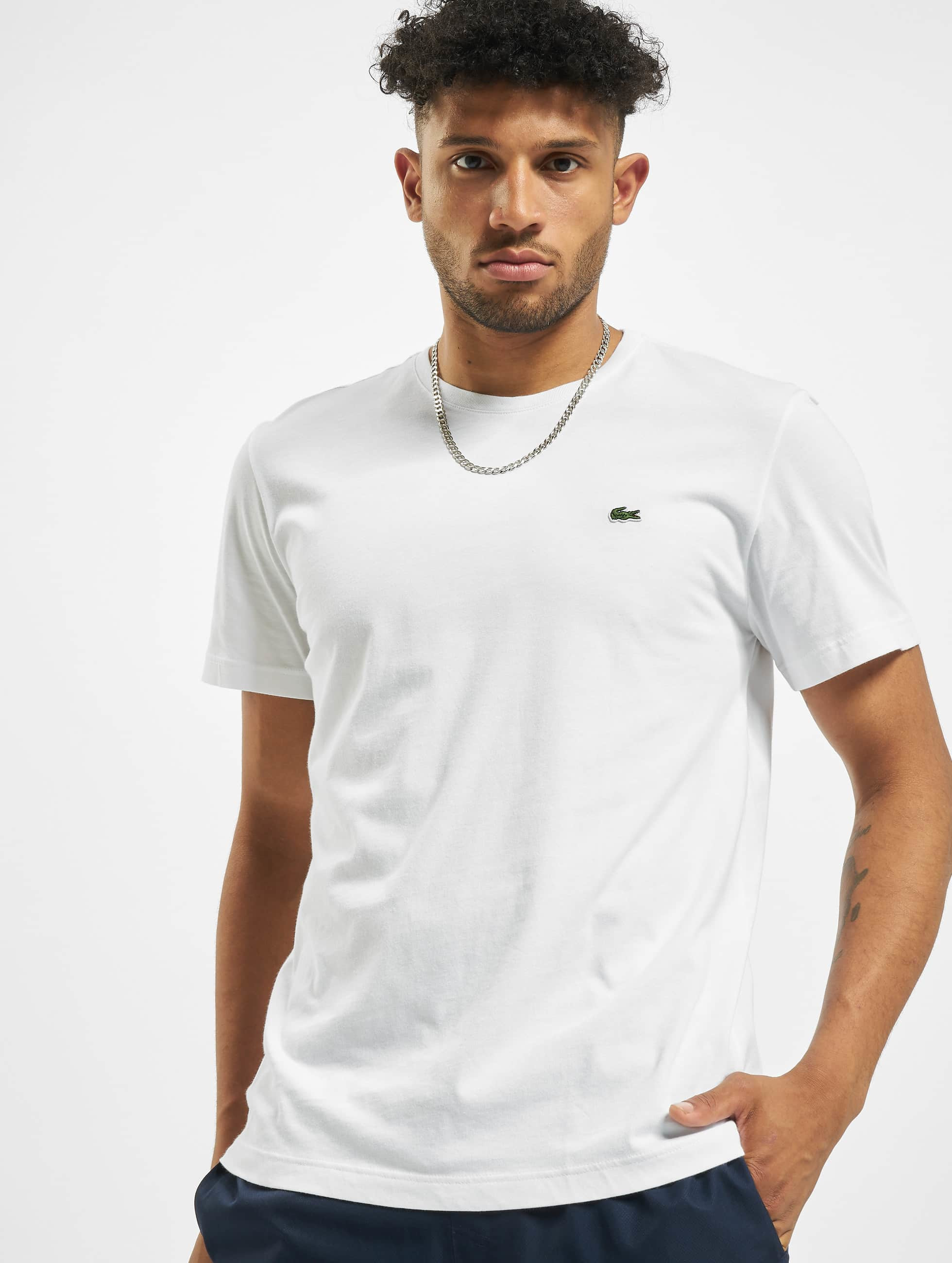 lacoste basic blanc homme t shirt lacoste acheter pas cher haut 133012. Black Bedroom Furniture Sets. Home Design Ideas