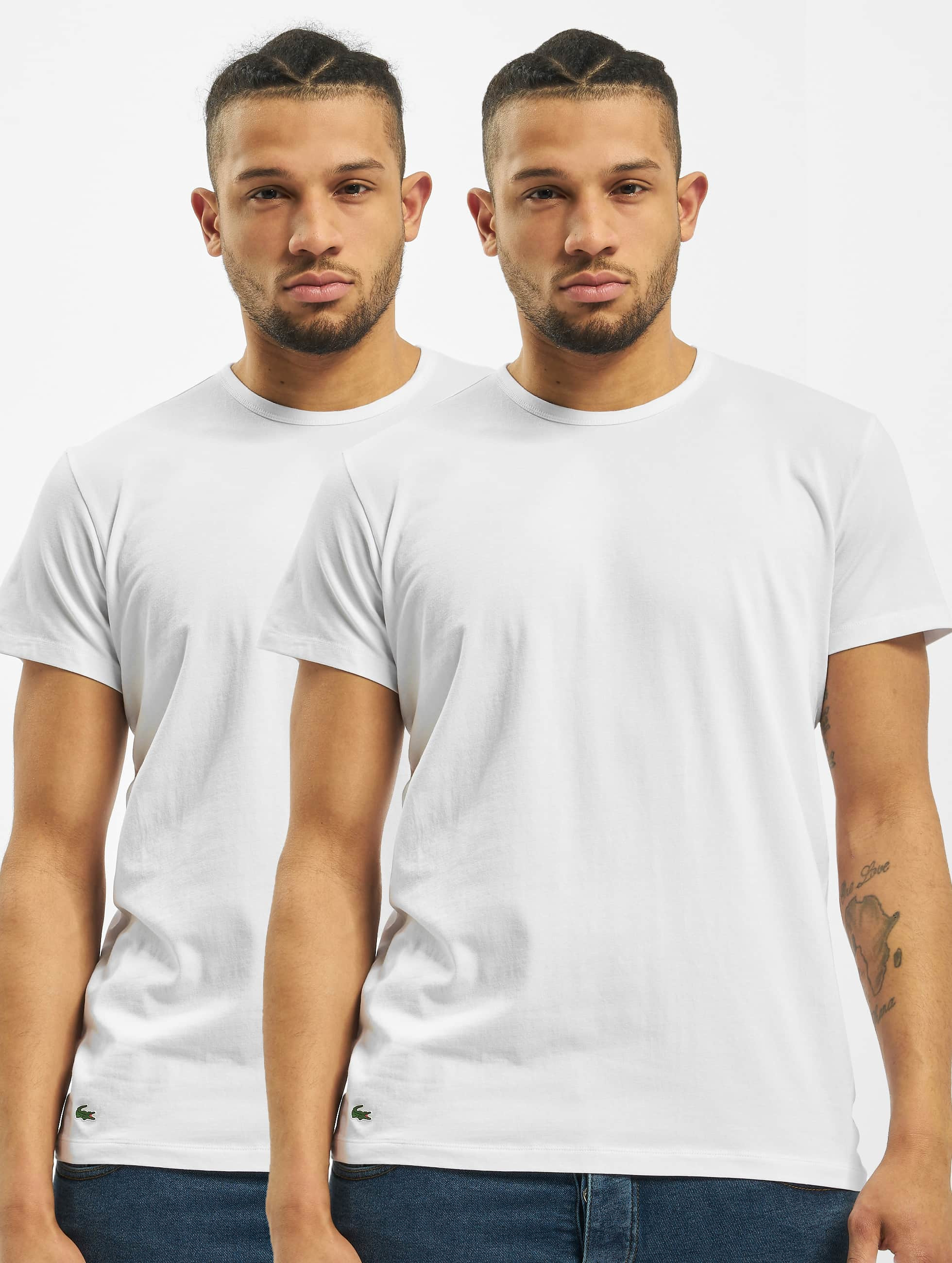Lacoste T-Shirt 2-Pack C/N blanc