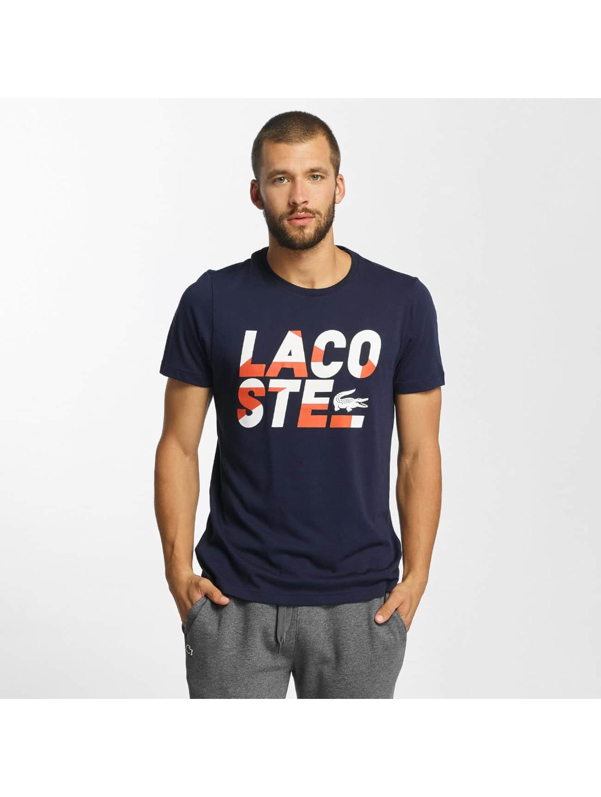 Lacoste T-Shirt Kroko blau