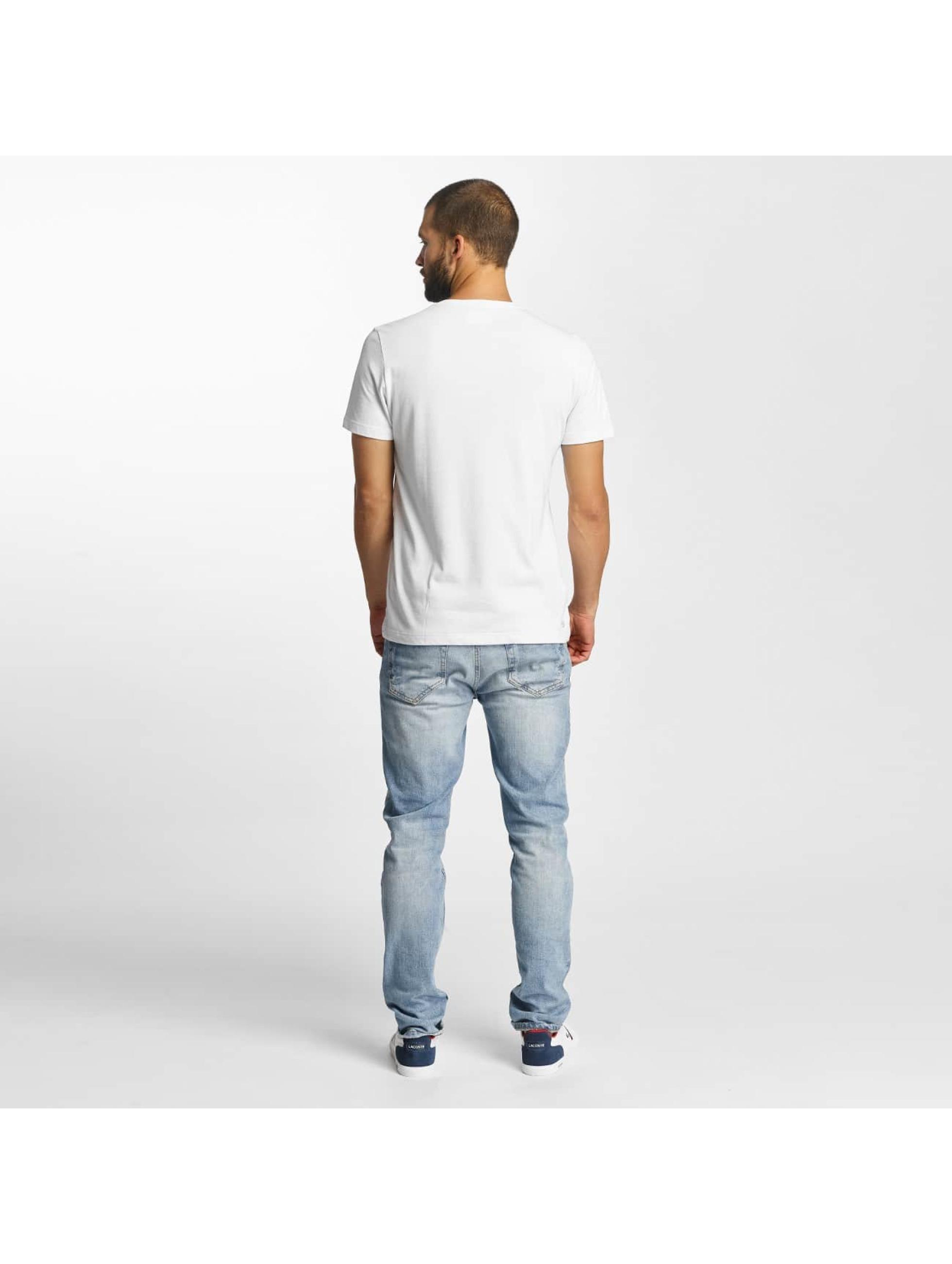 Lacoste T-Shirt Kroko weiß