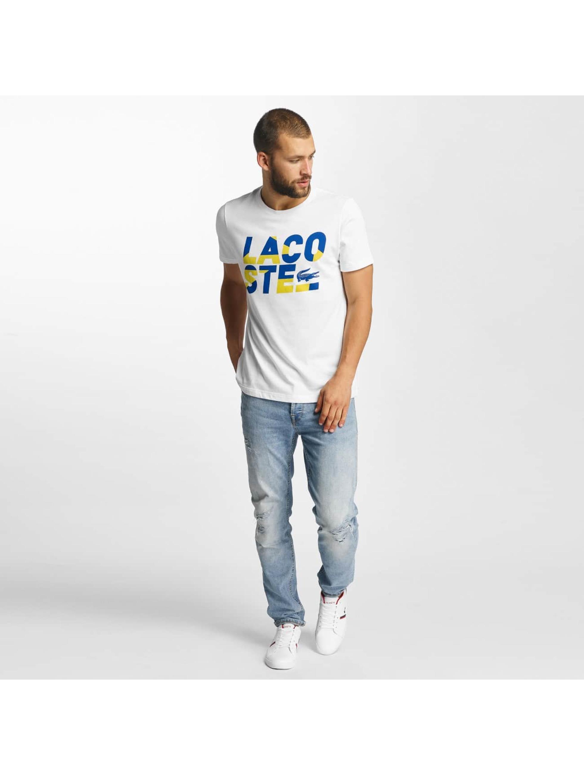 Lacoste T-skjorter Kroko hvit