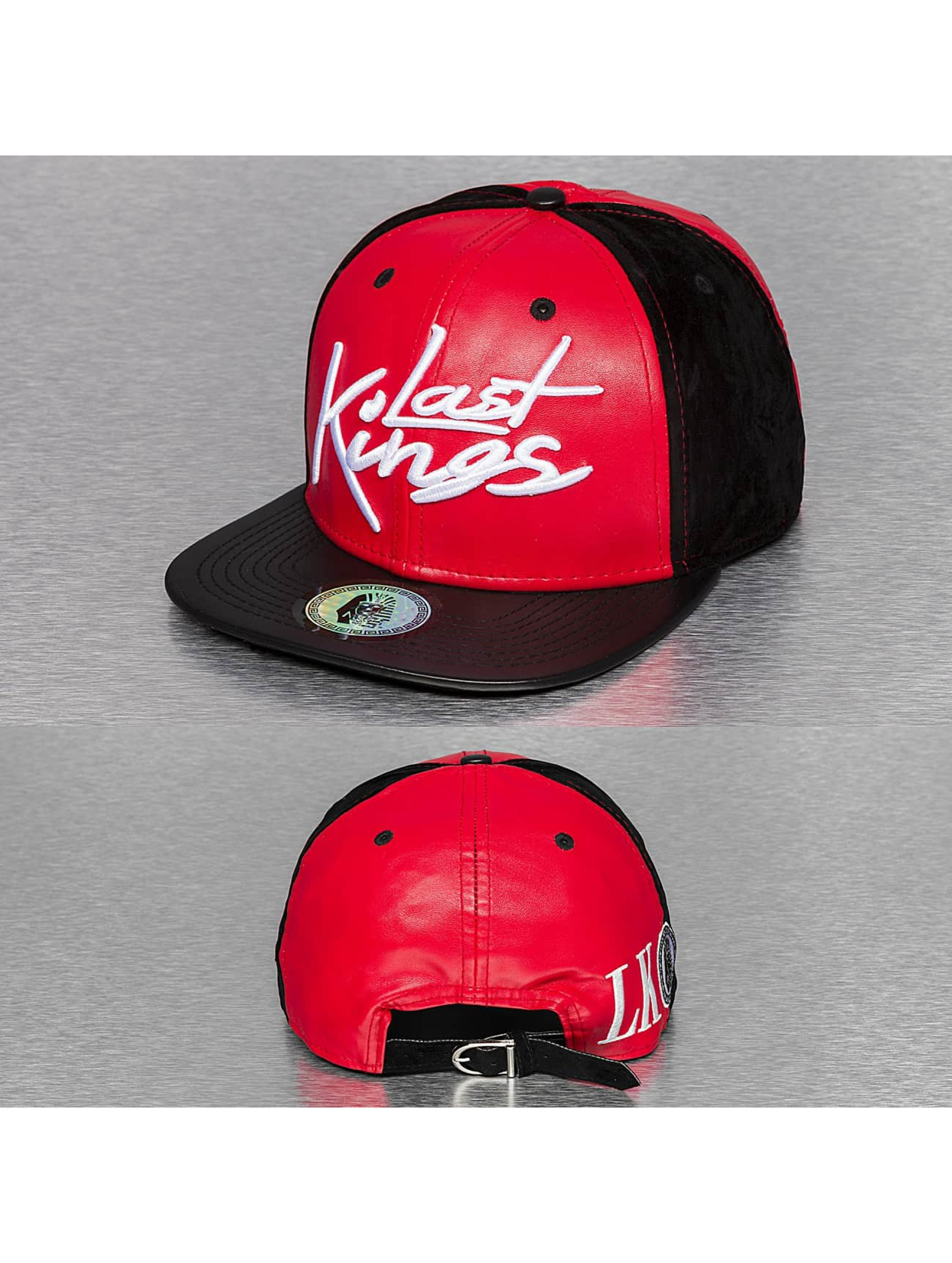 Last Kings snapback cap Tag Faux Leather zwart