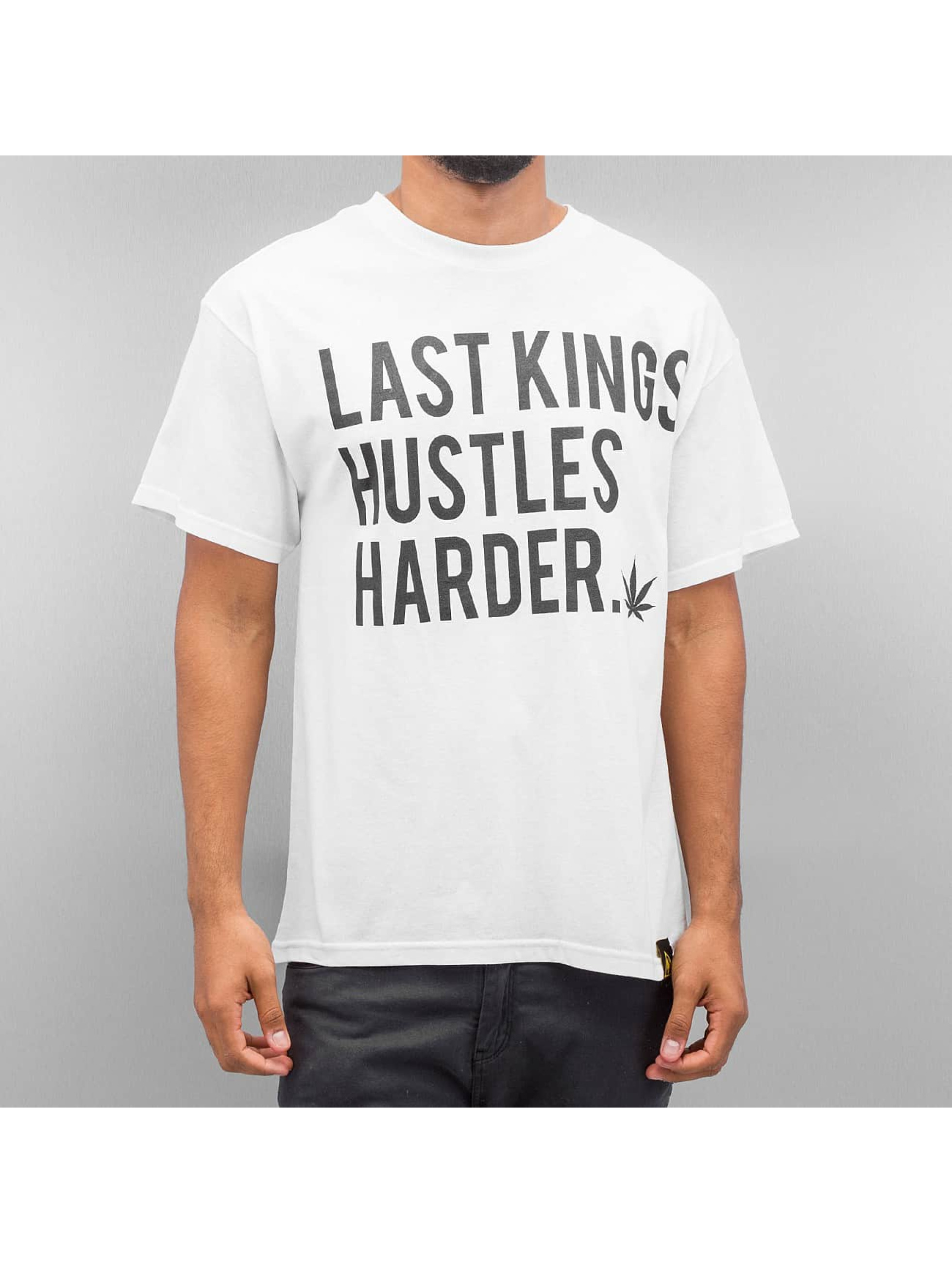 Last Kings T-Shirt Hustle Hard white