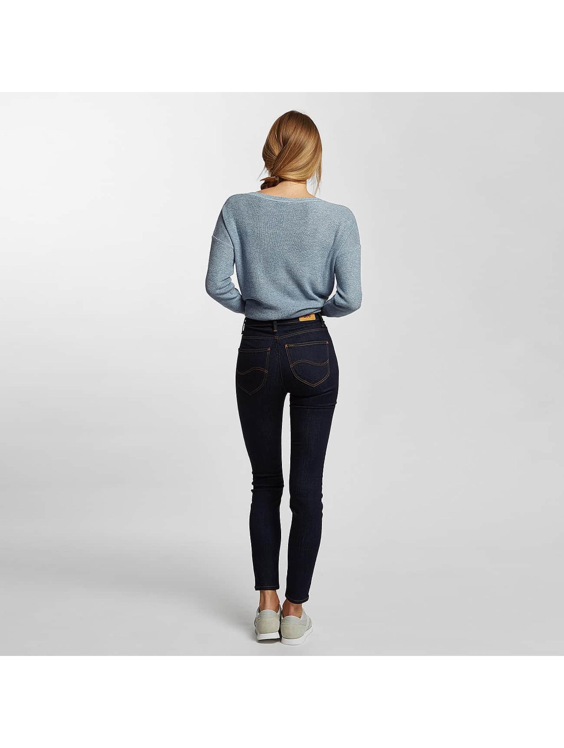 Lee Høy midje Jeans Scarlett blå