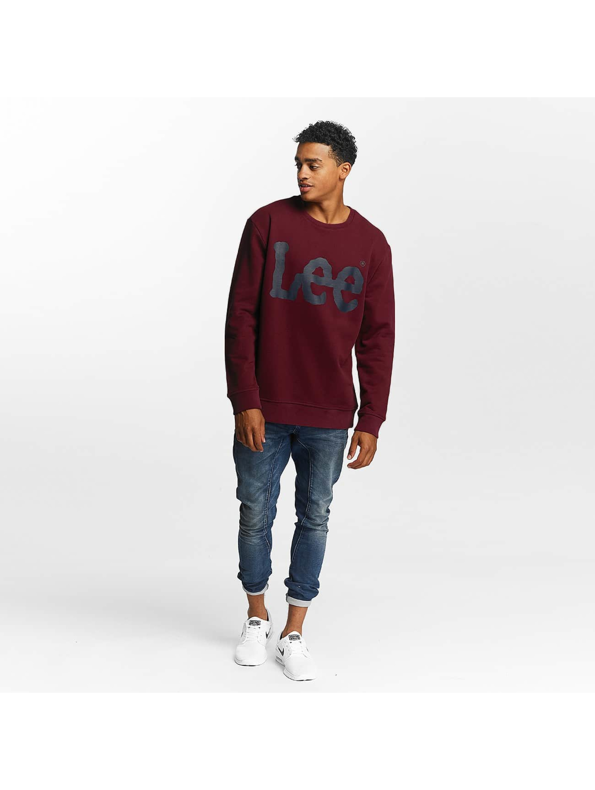 Lee Pullover Logo rot