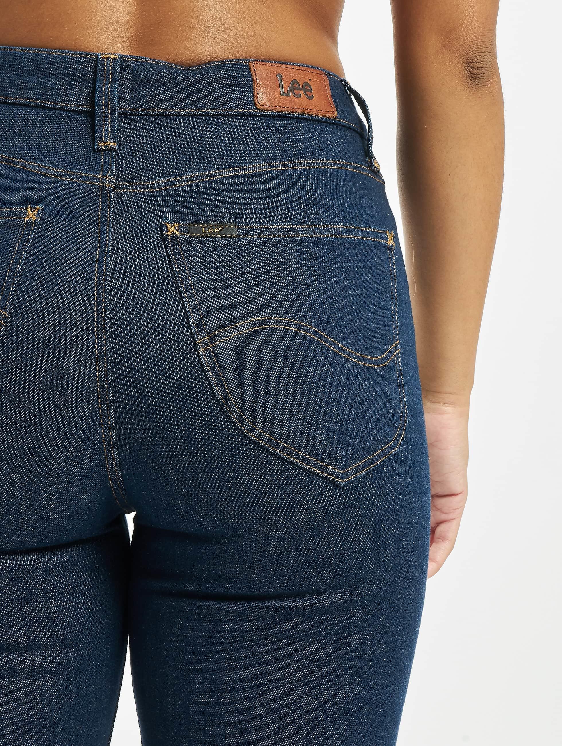 Lee Slim Fit Jeans Mom blauw