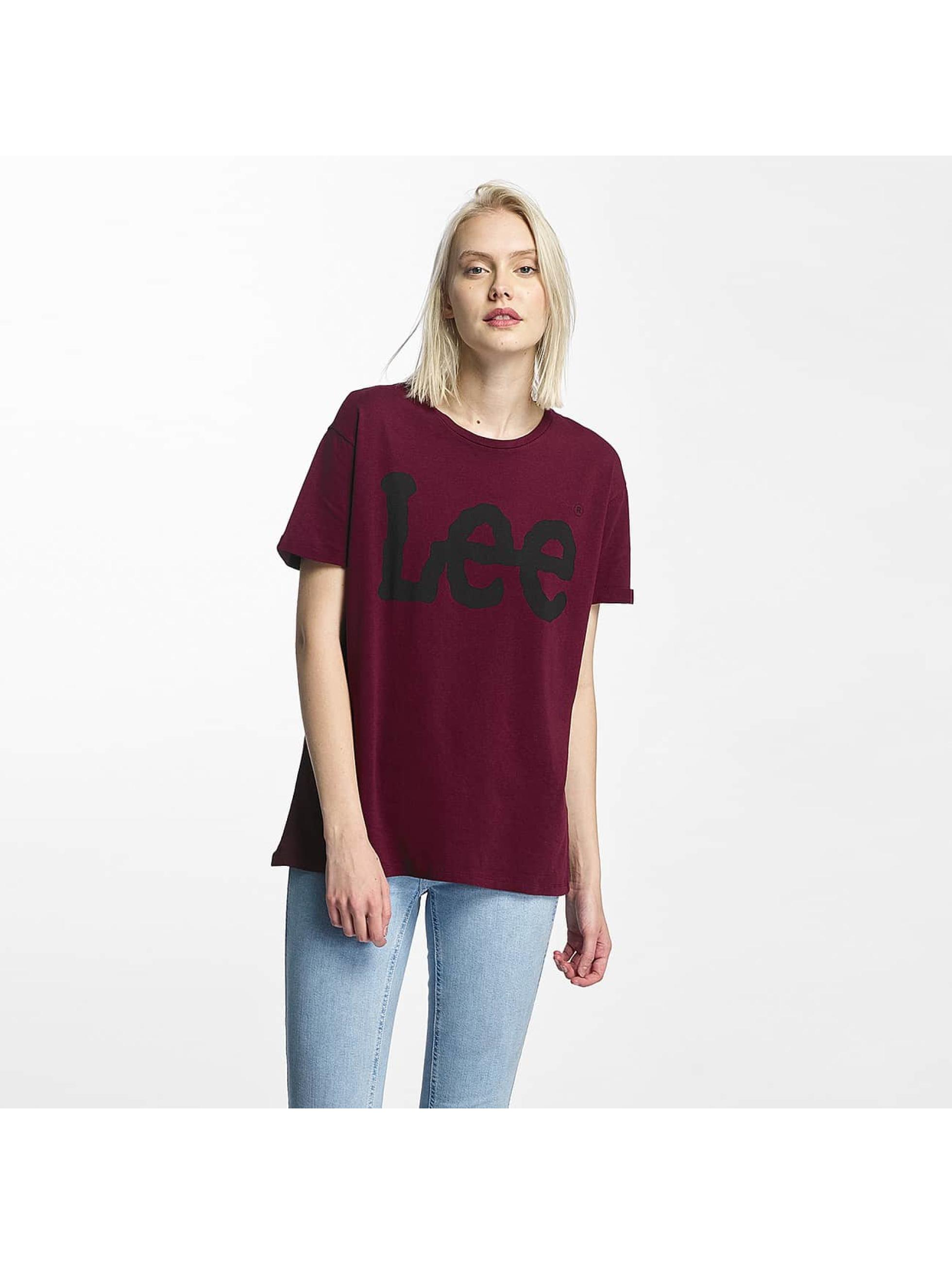 Lee T-paidat Logo punainen