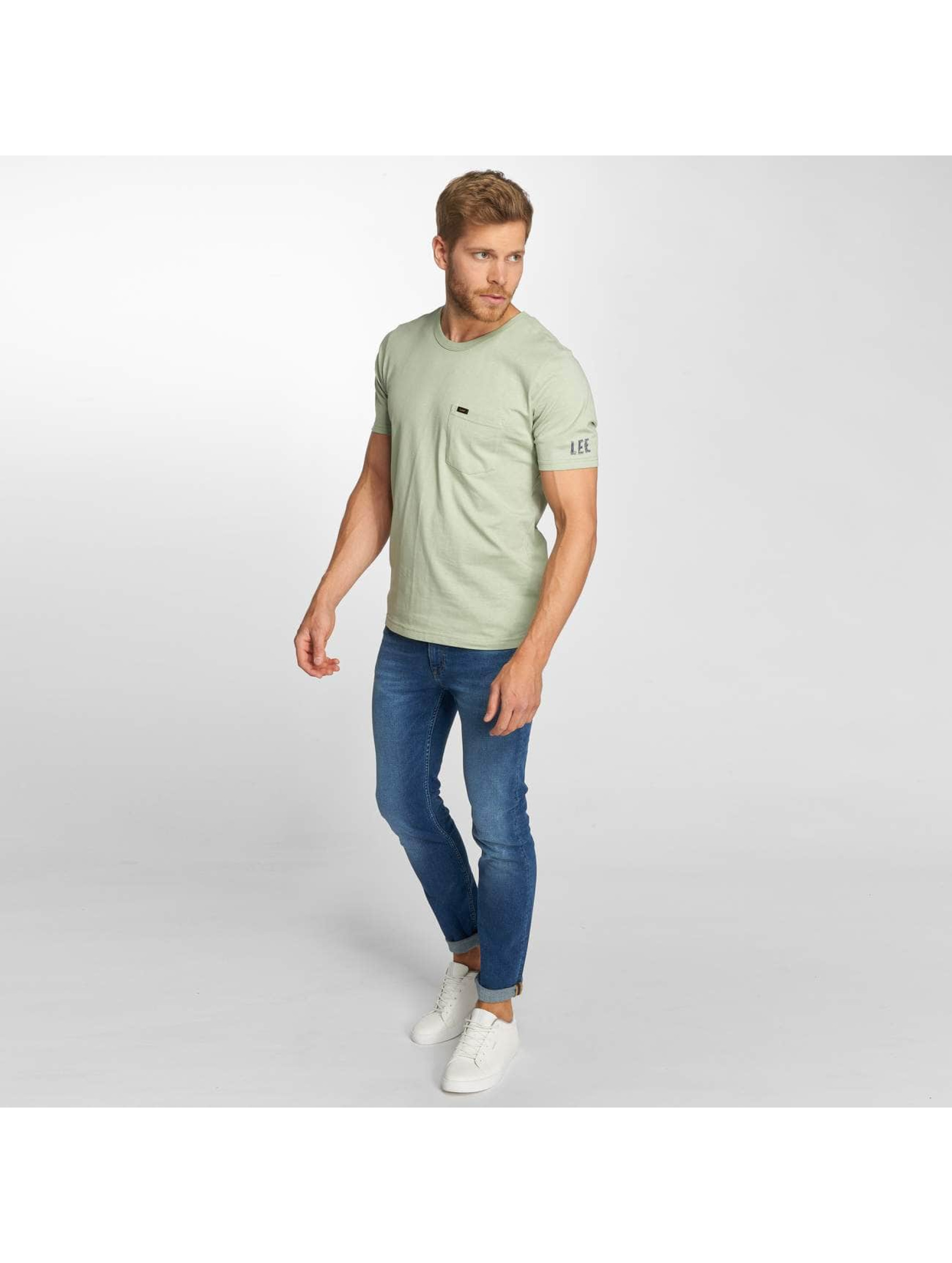 Lee T-Shirt Pocket grün