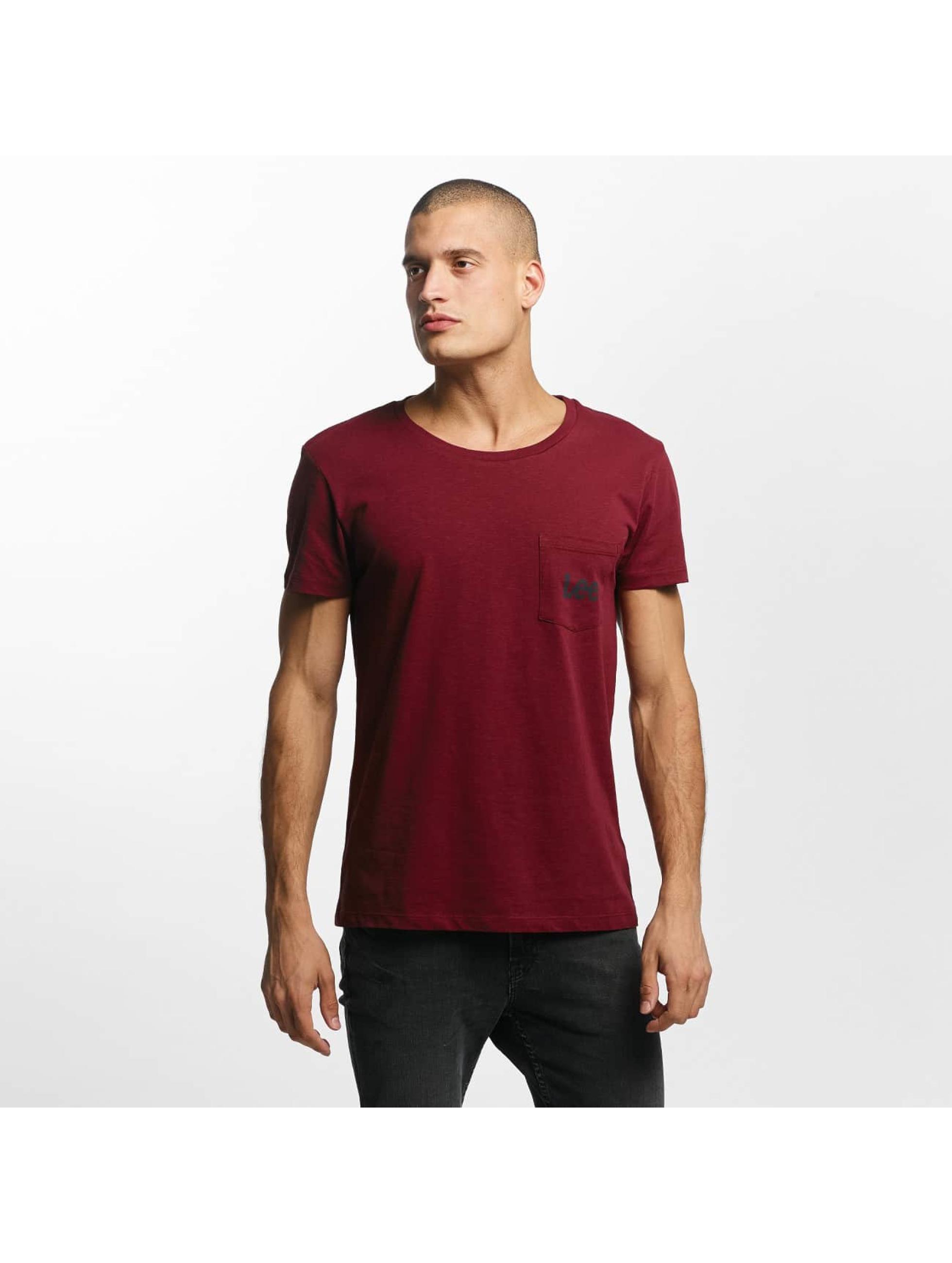 Lee T-Shirt Pocket red