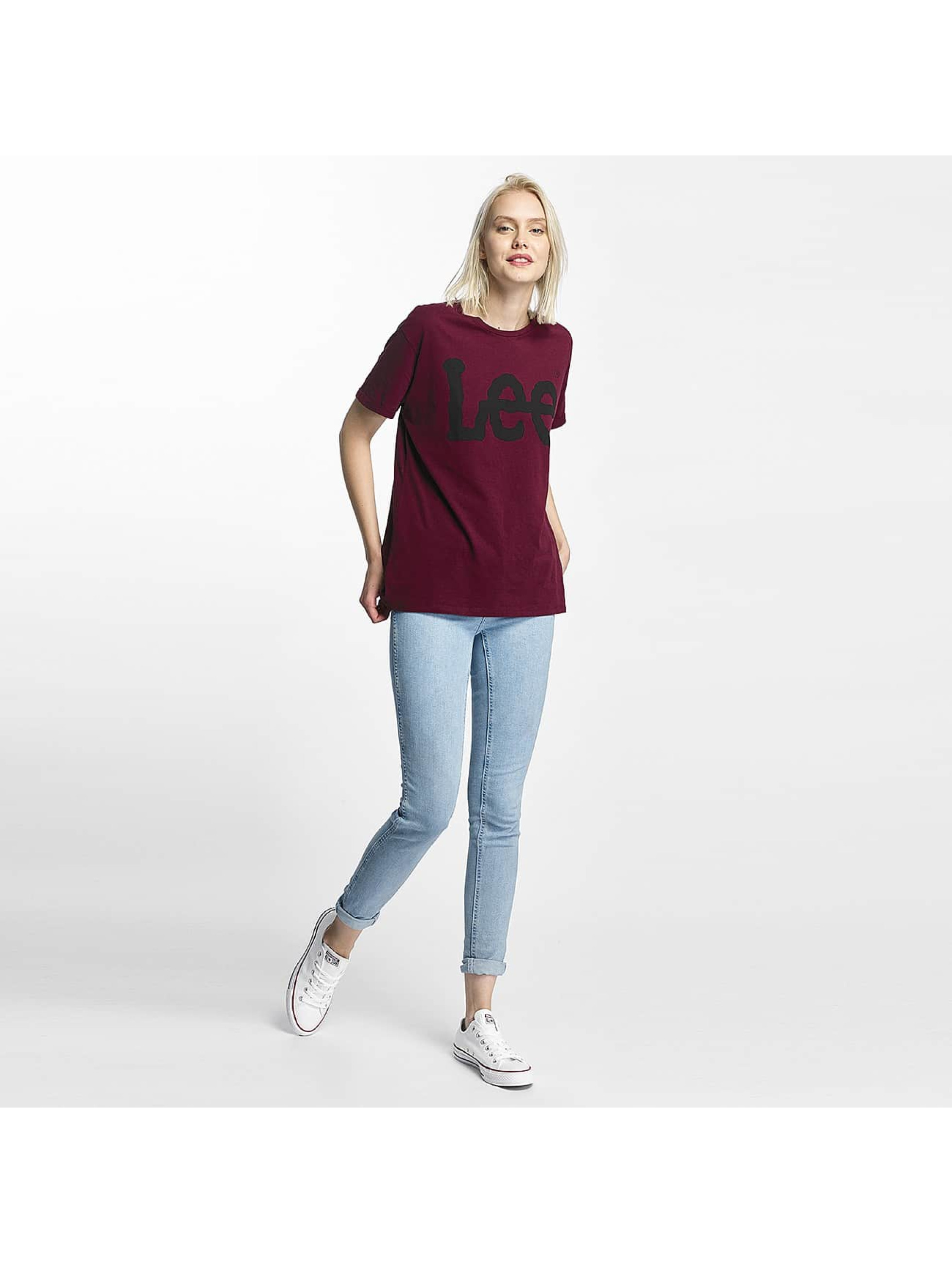 Lee t-shirt Logo rood