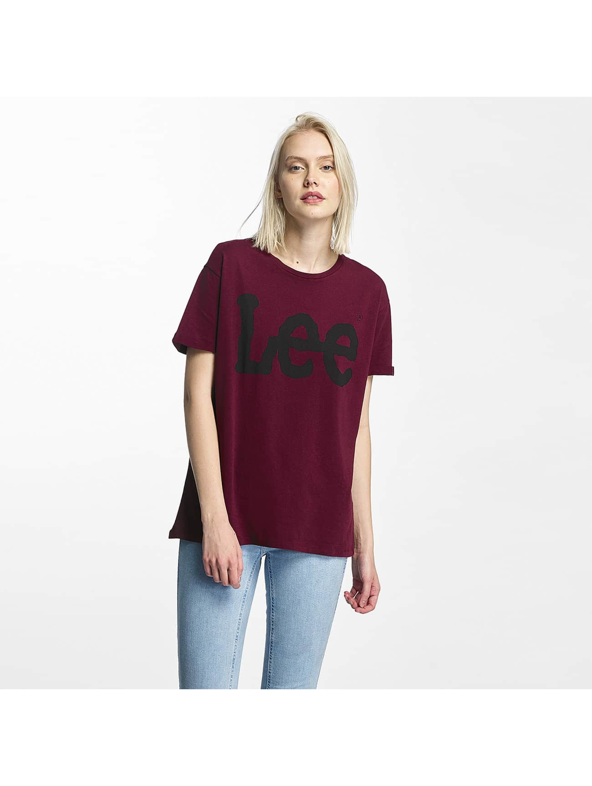 Lee T-Shirt Logo rouge