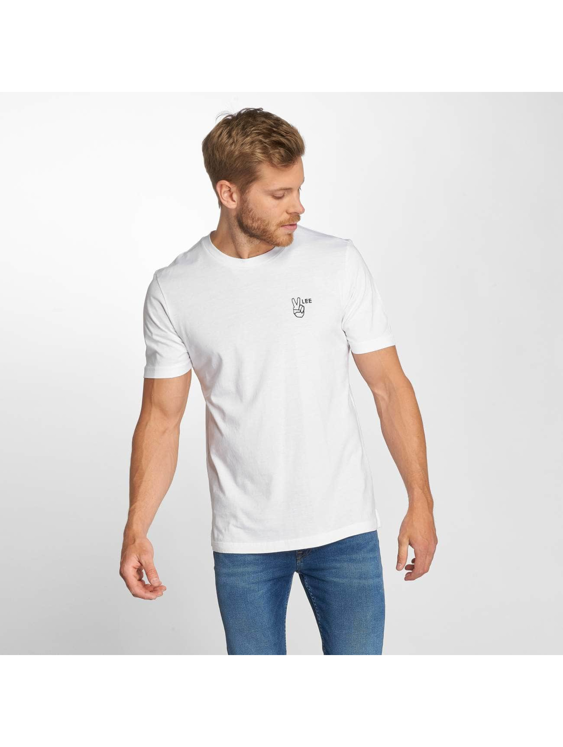Lee T-Shirt Peace weiß