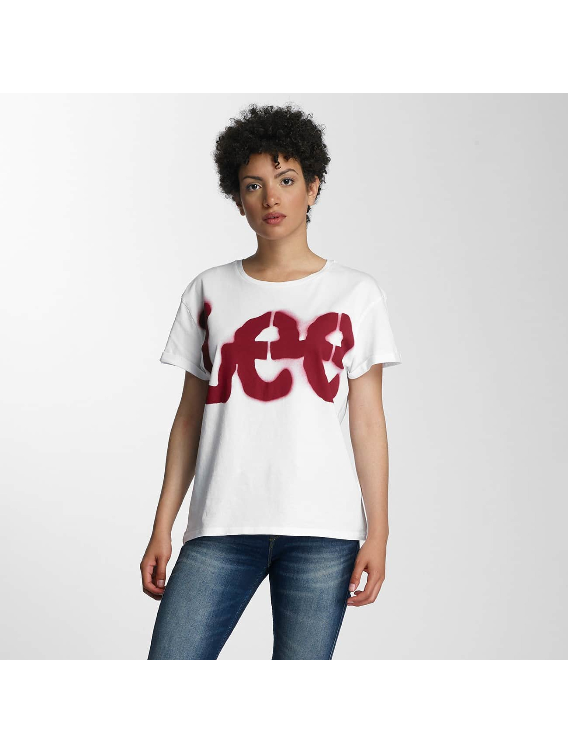 Lee T-Shirty Logo bialy