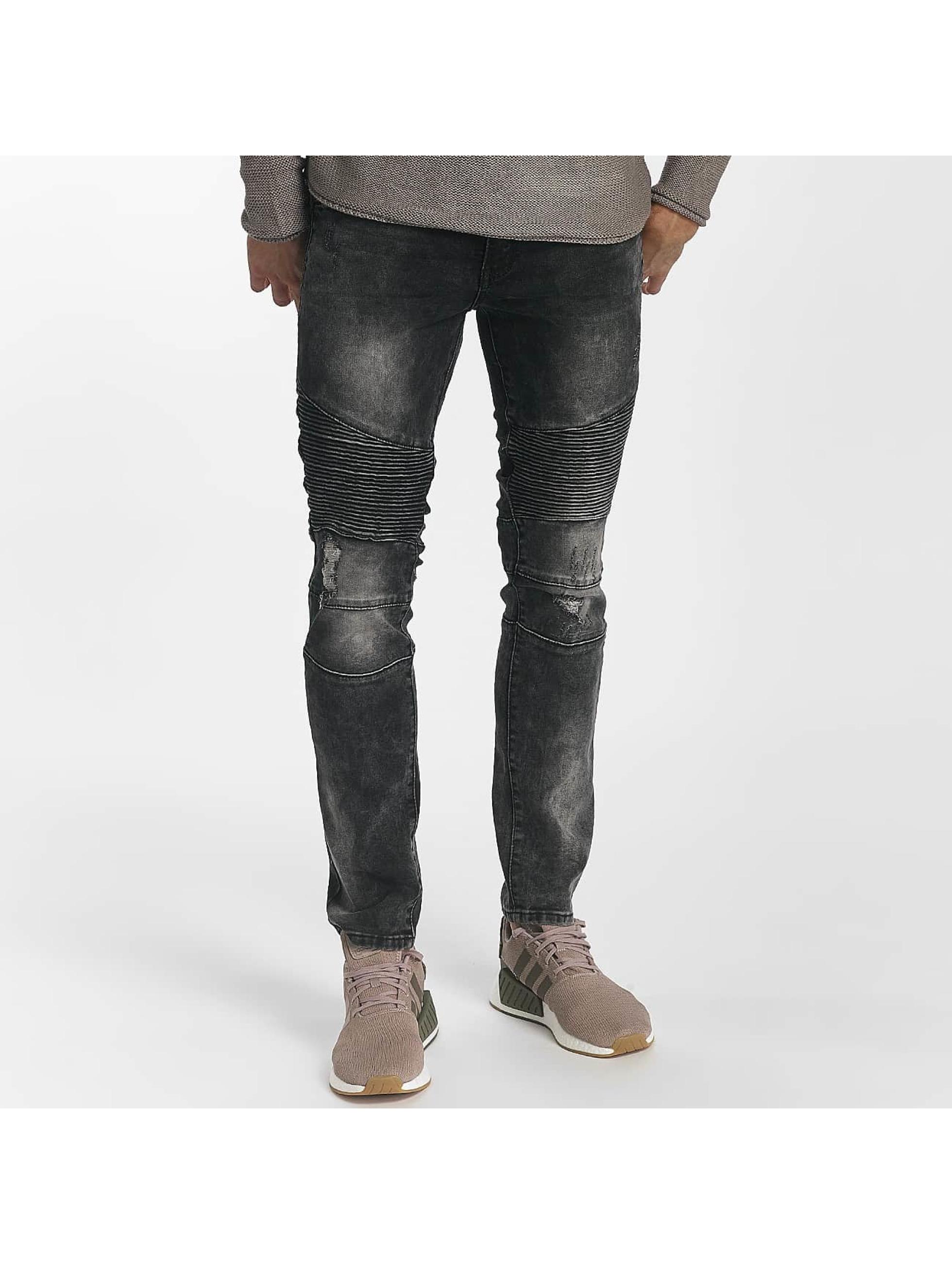 Leg Kings Úzke/Streč Ribbed Destroyed šedá