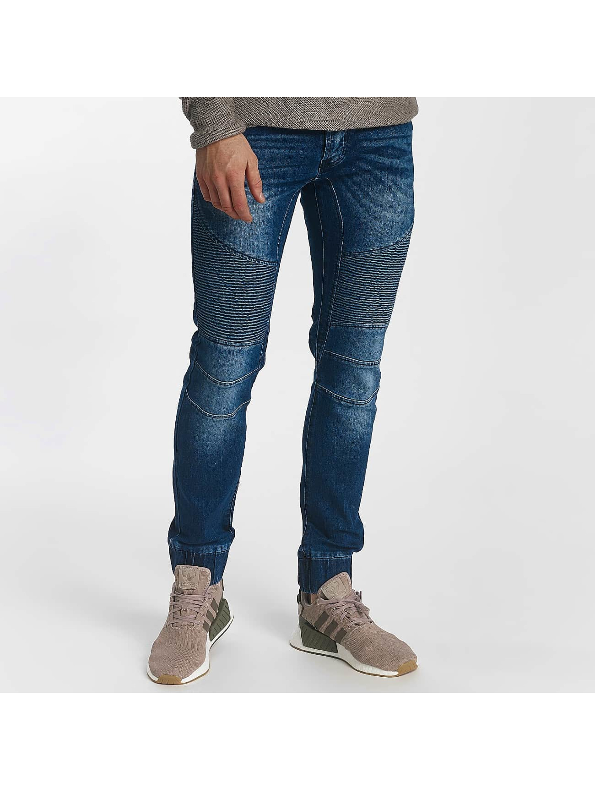 Leg Kings Carrot Jeans Ribbed Carrot niebieski