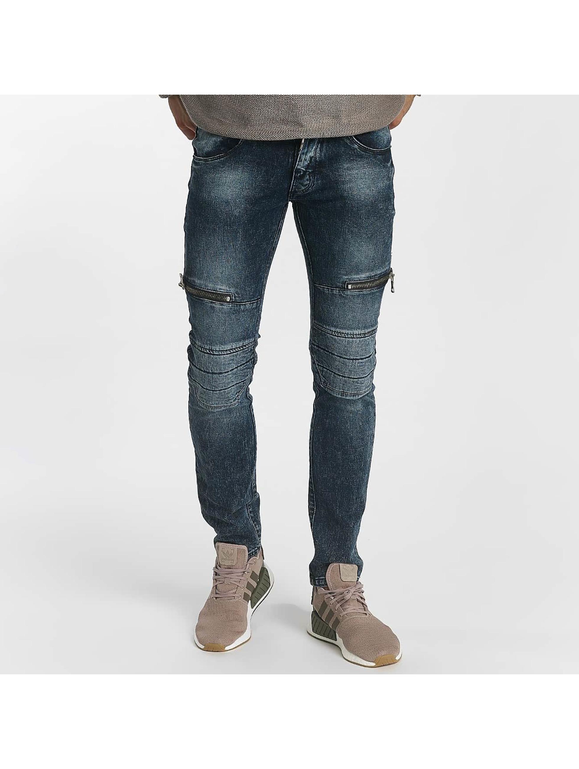 Leg Kings Jean skinny Zipper bleu