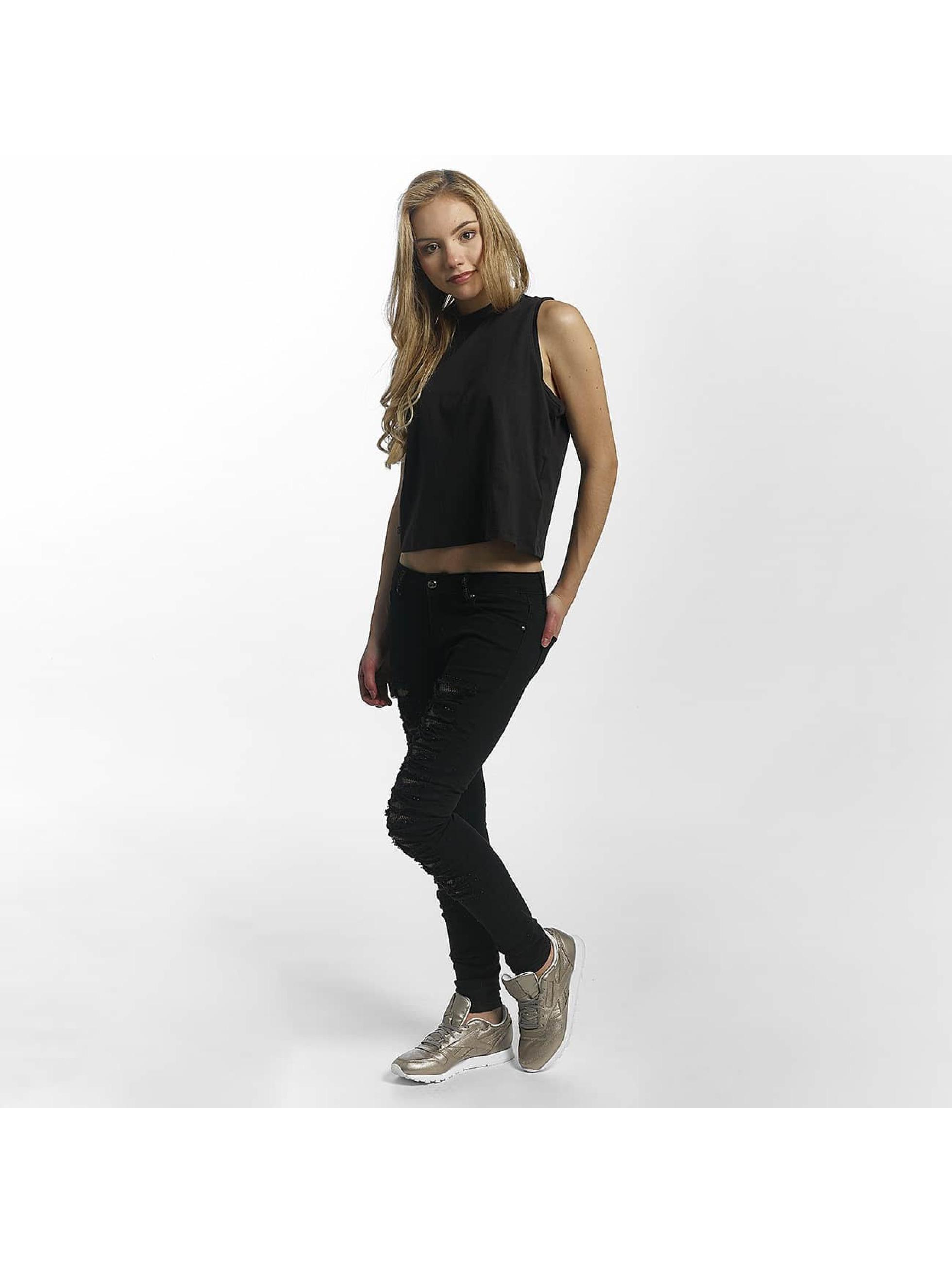 Leg Kings Skinny Jeans Mesh czarny