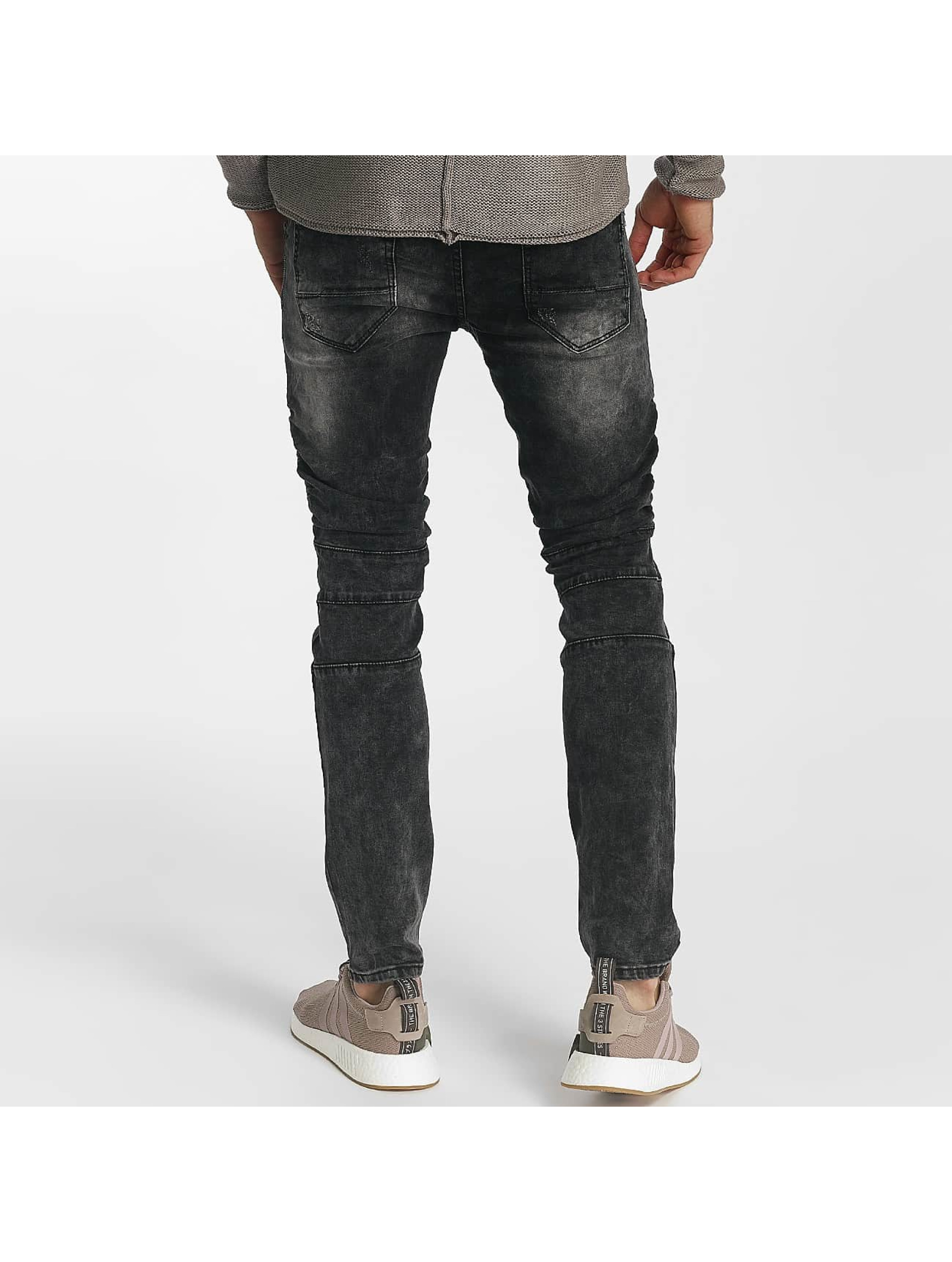 Leg Kings Skinny Jeans Ribbed Destroyed grau