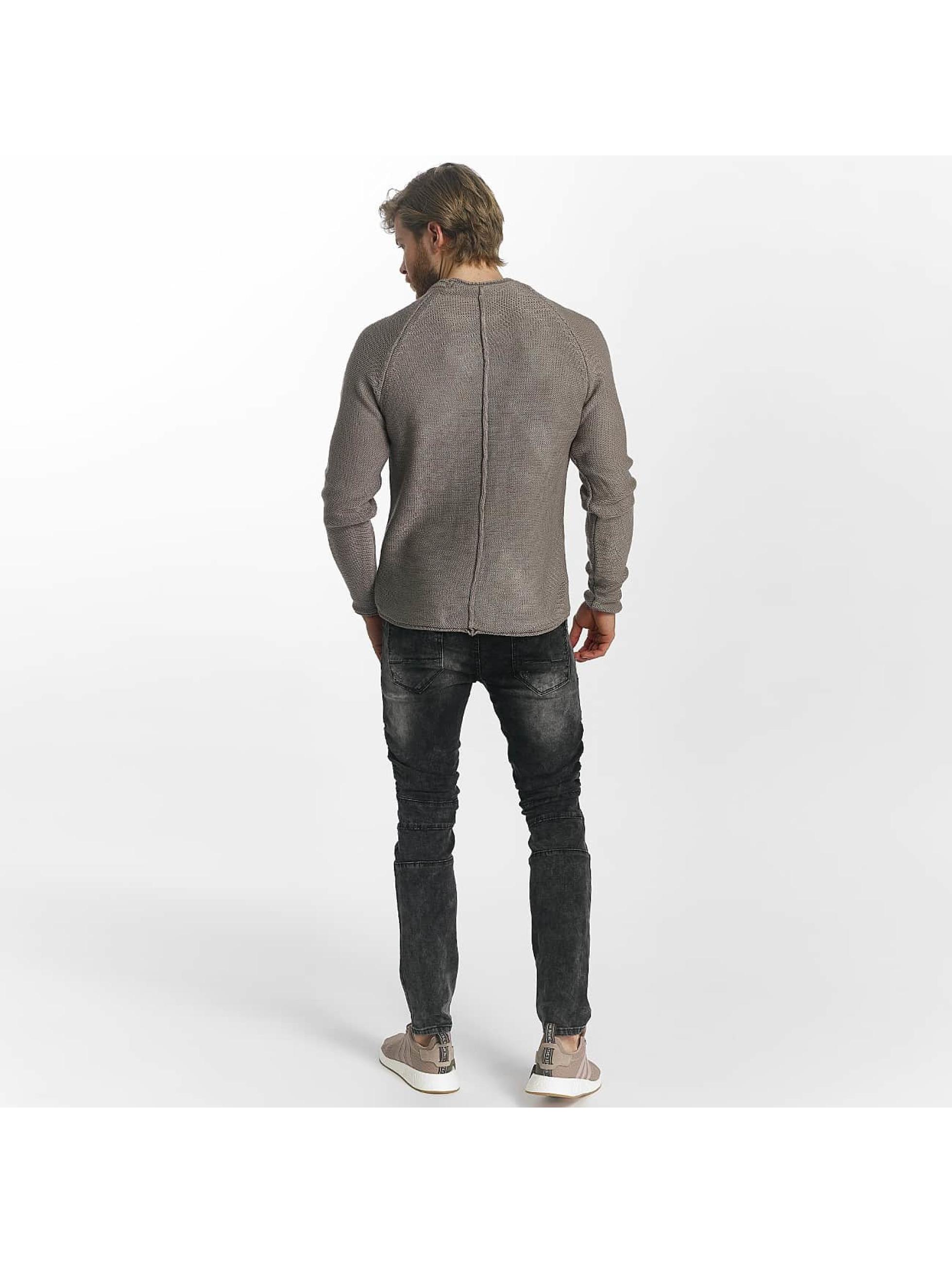 Leg Kings Skinny Jeans Ribbed Destroyed gray