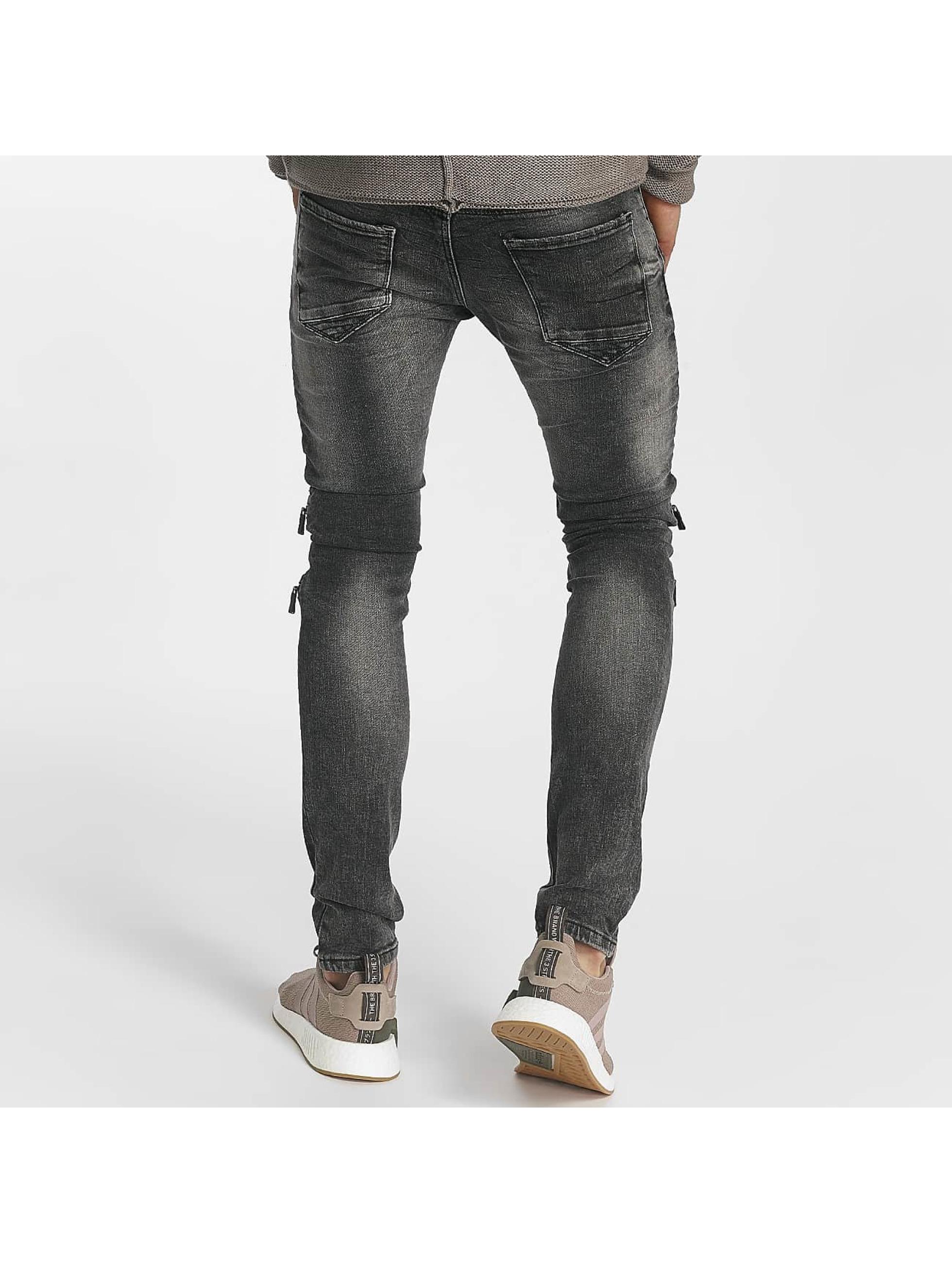 Leg Kings Skinny Jeans Zipper grey