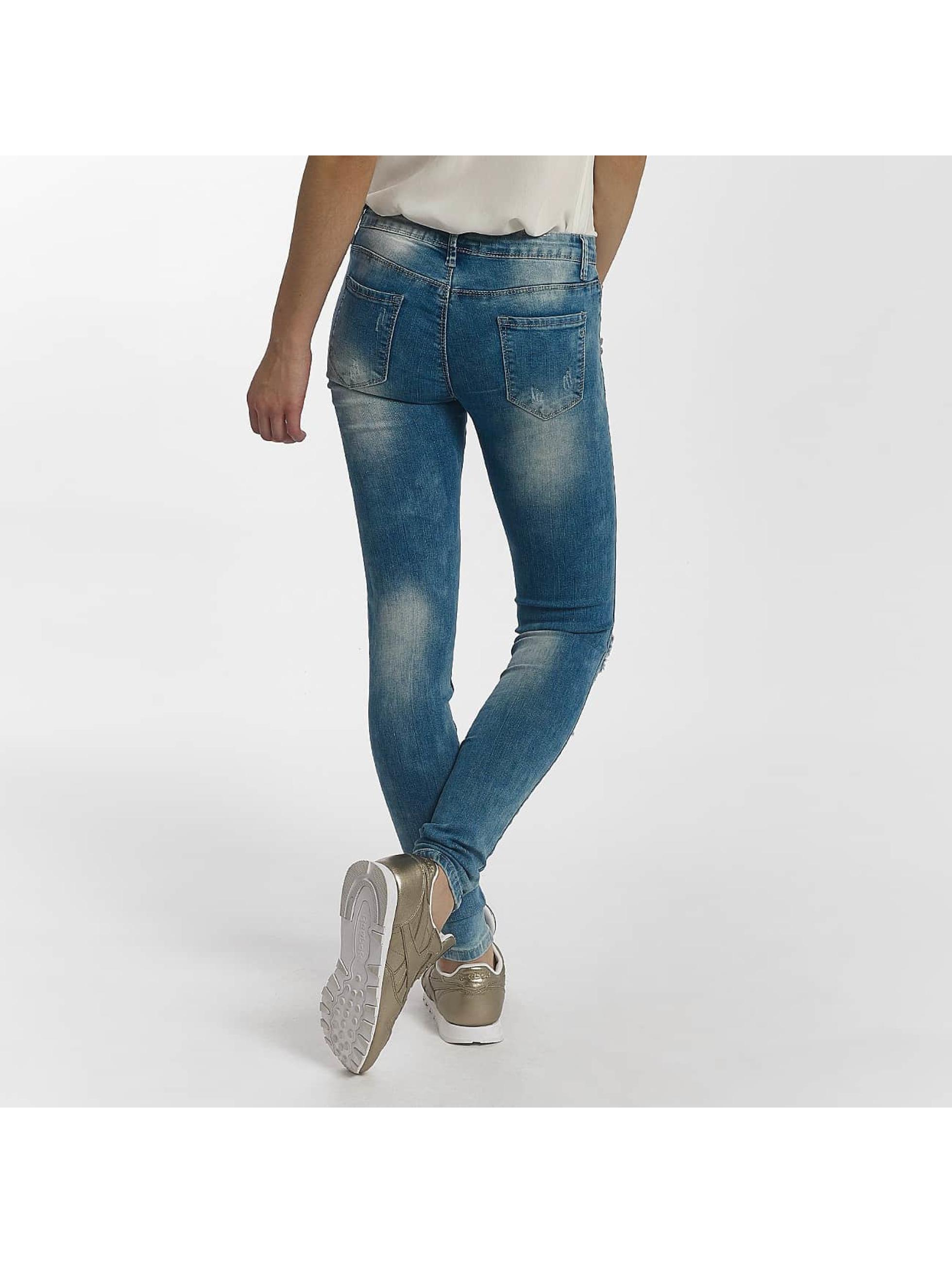 Leg Kings Skinny Jeans Flower niebieski