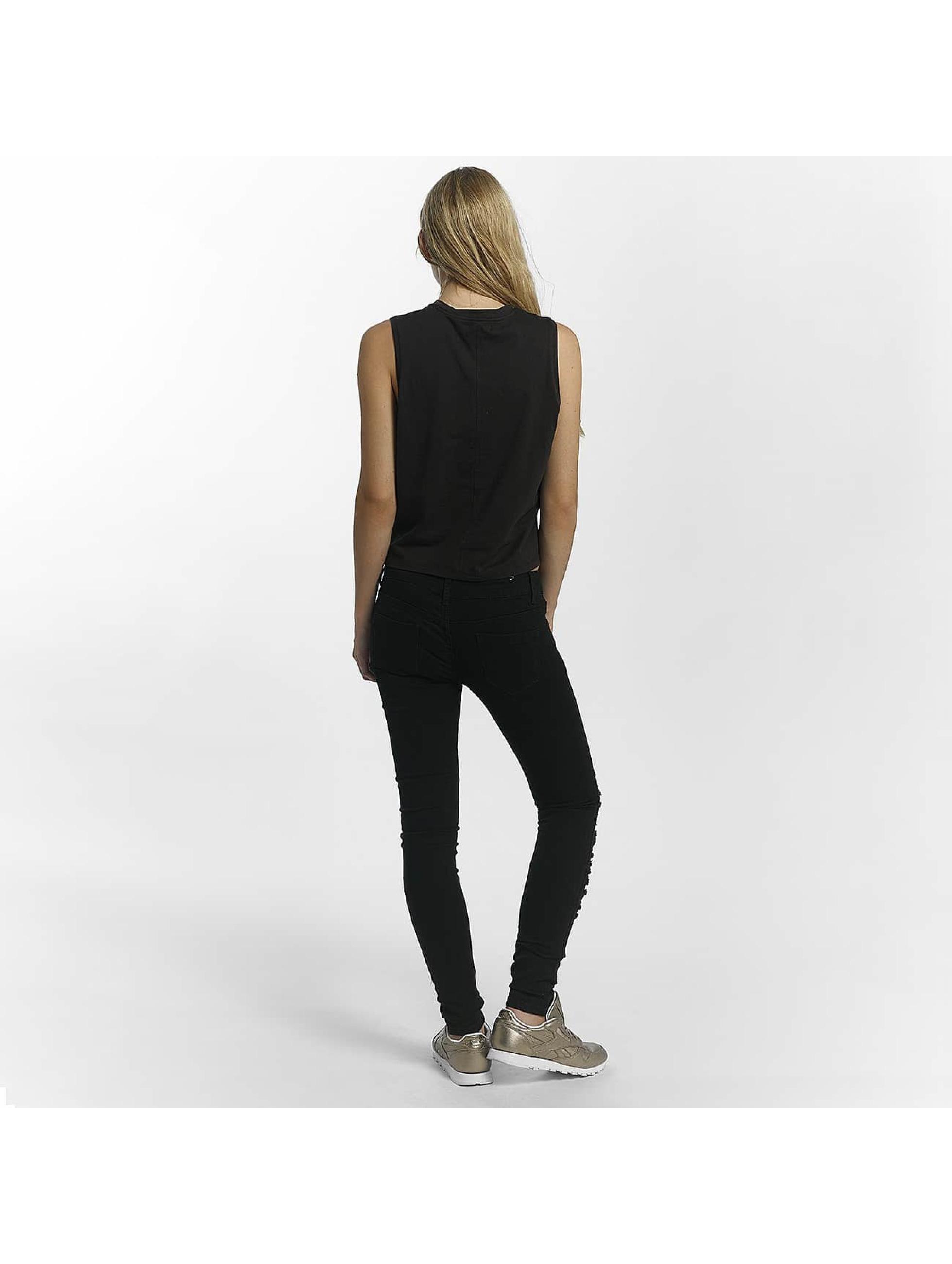 Leg Kings Skinny Jeans Mesh schwarz
