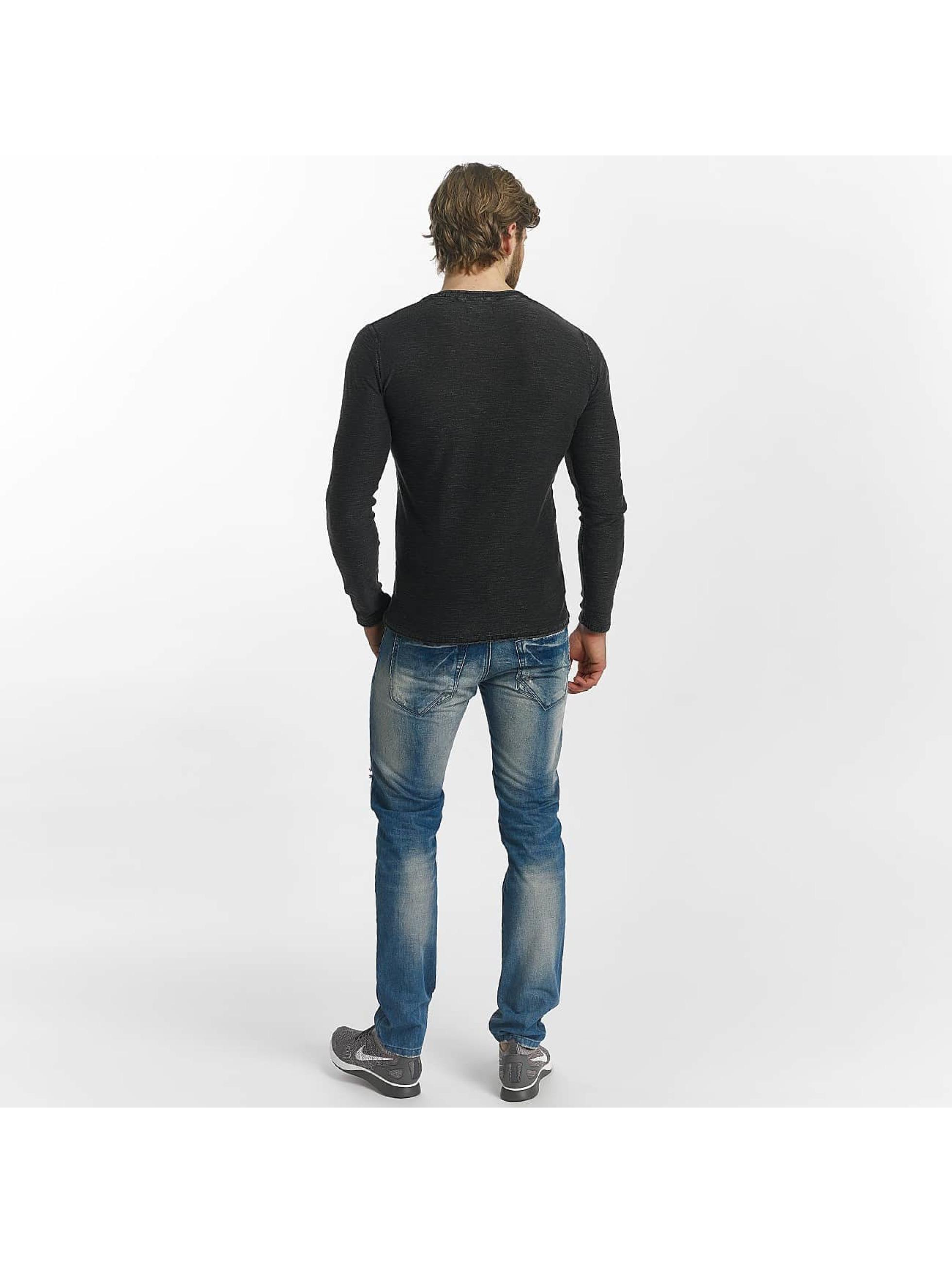 Leg Kings Slim Fit Jeans Destroyed blå