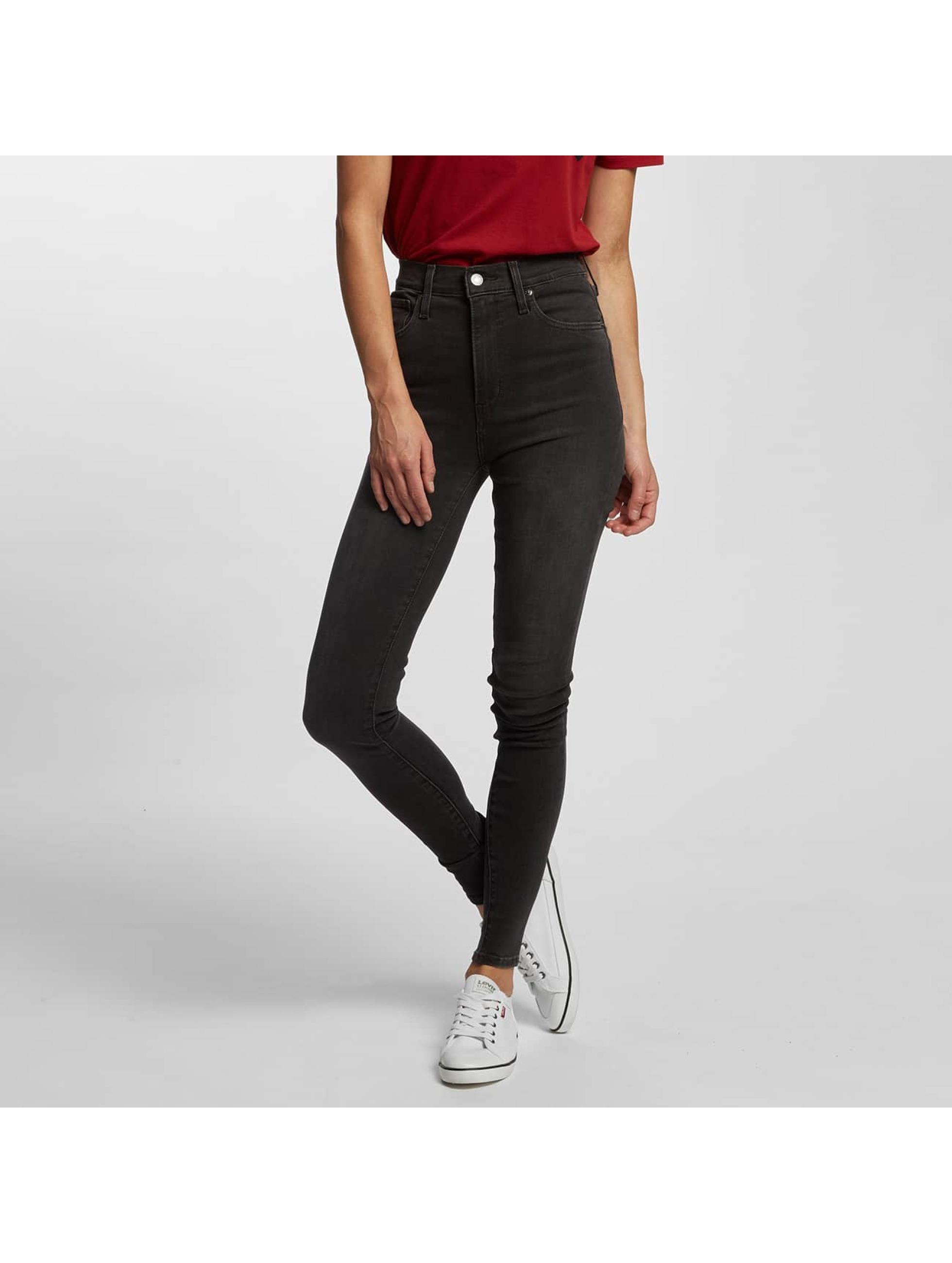 levi 39 s jeans high waisted jeans mile high super skinny in grijs 345093. Black Bedroom Furniture Sets. Home Design Ideas