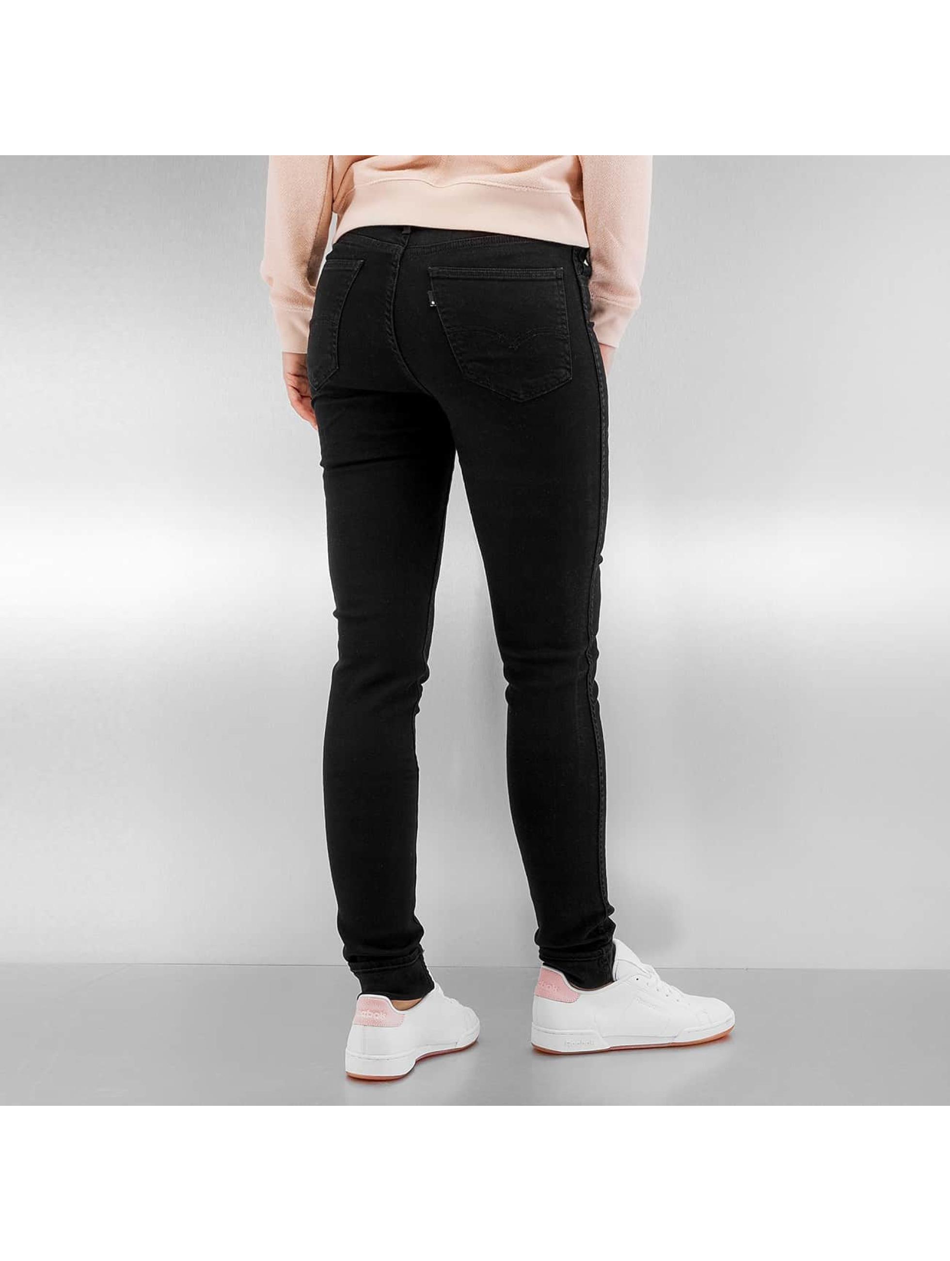 levi 39 s 8 high noir femme jean taille haute levi 39 s. Black Bedroom Furniture Sets. Home Design Ideas