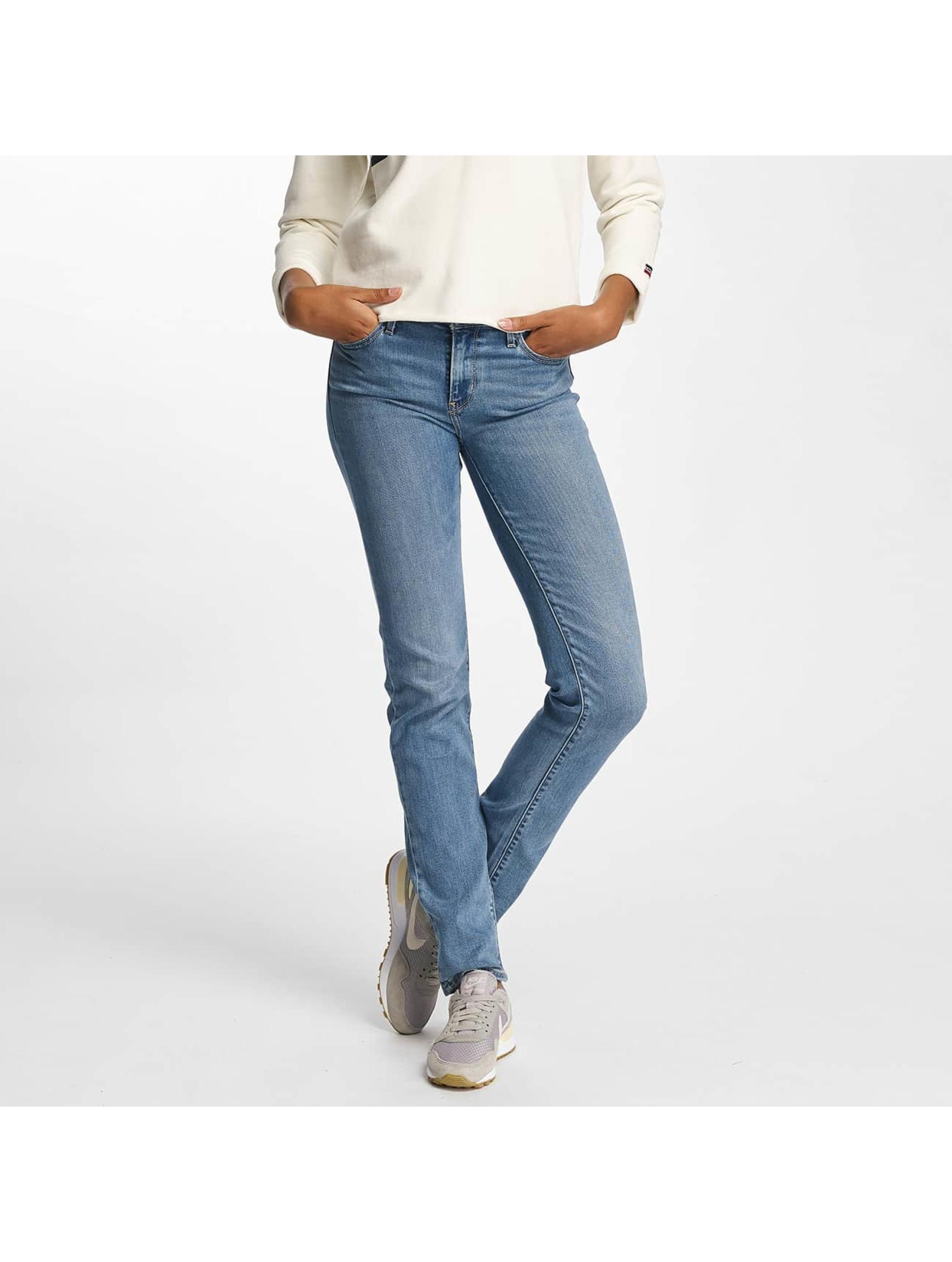 Levi's® Slim Fit Jeans 712 Straight Fit modrá