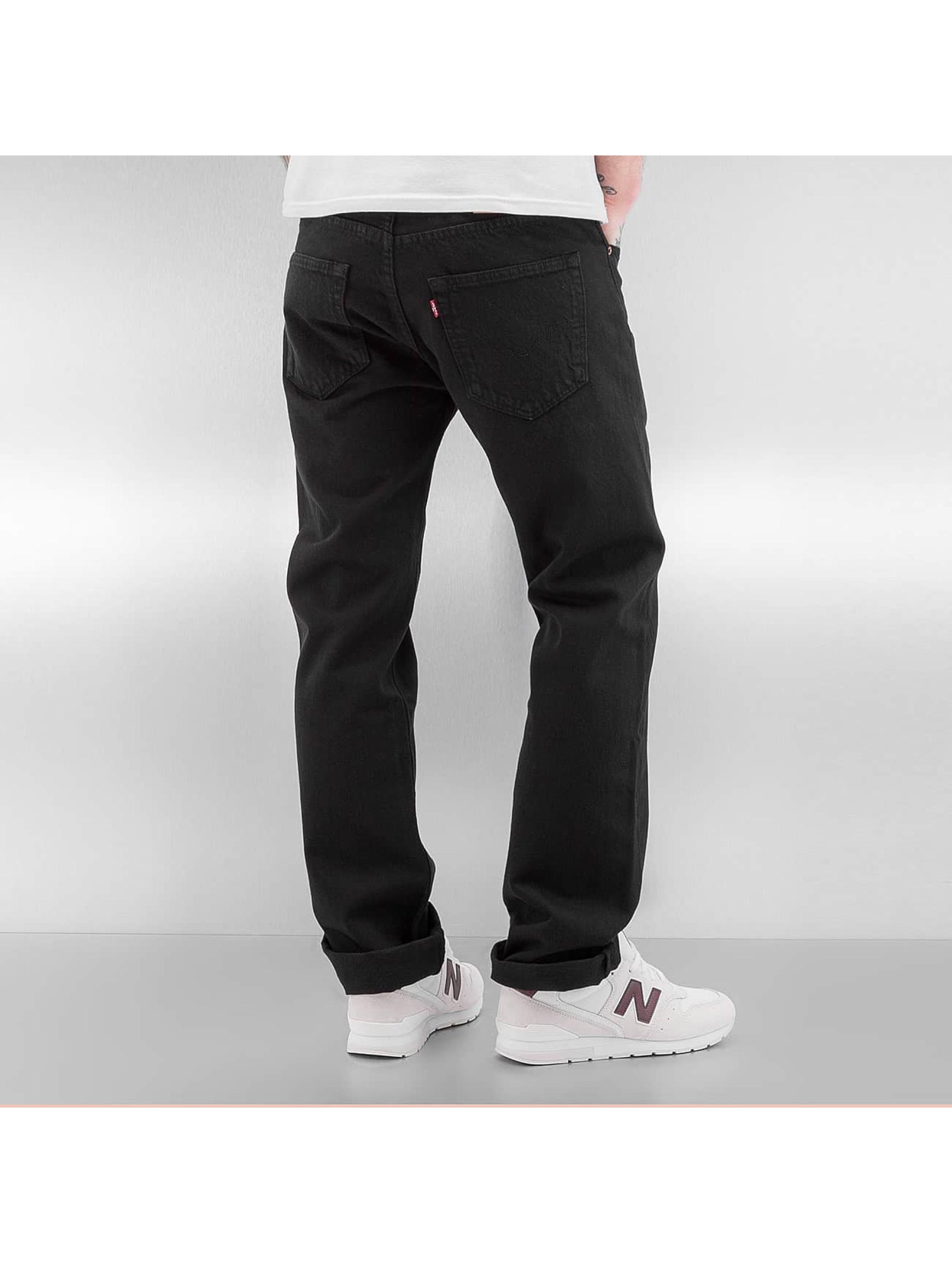 levi 39 s jeans straight fit jeans 501 in zwart 335478. Black Bedroom Furniture Sets. Home Design Ideas