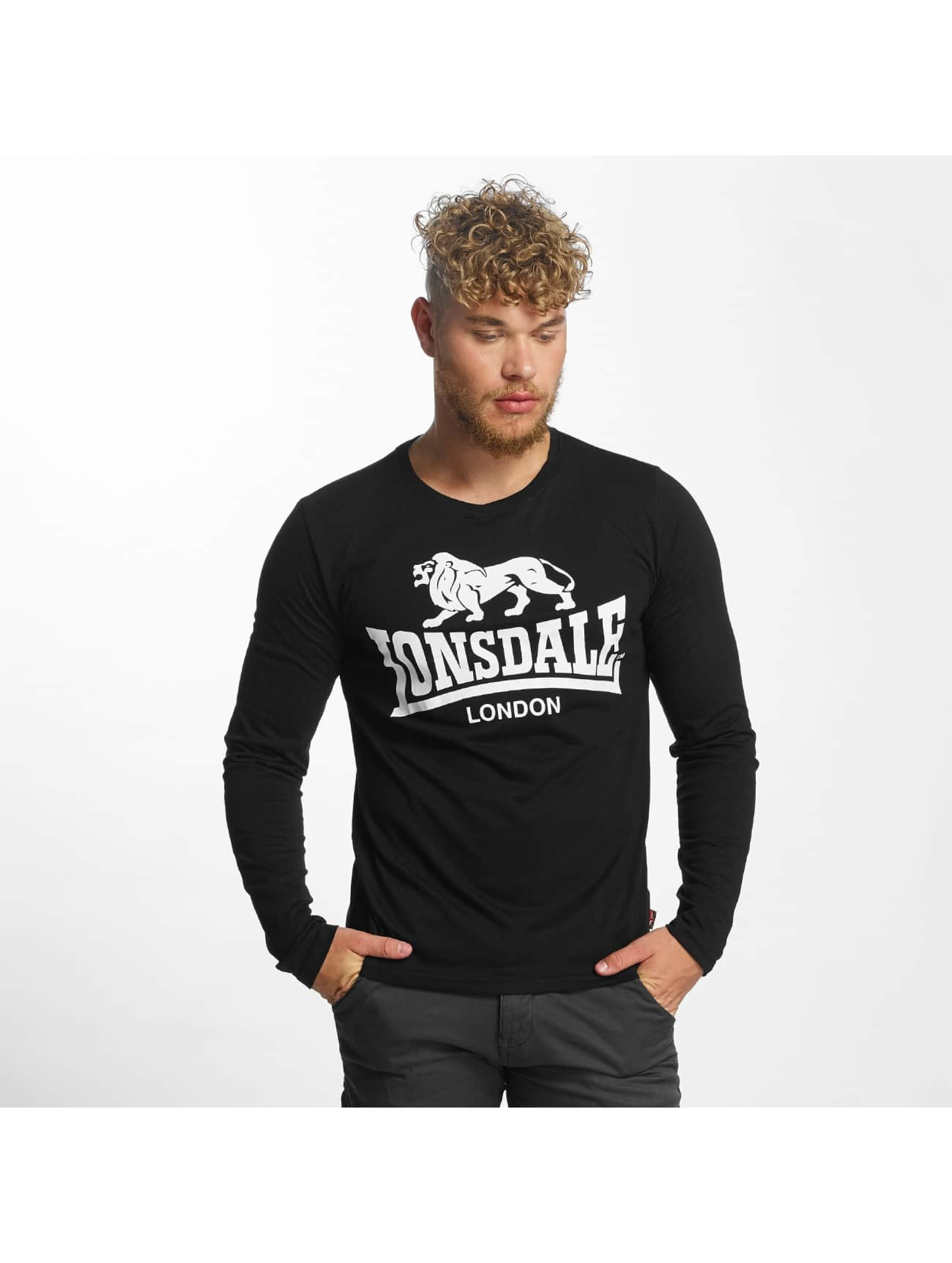 Lonsdale London Camiseta de manga larga Blaich negro
