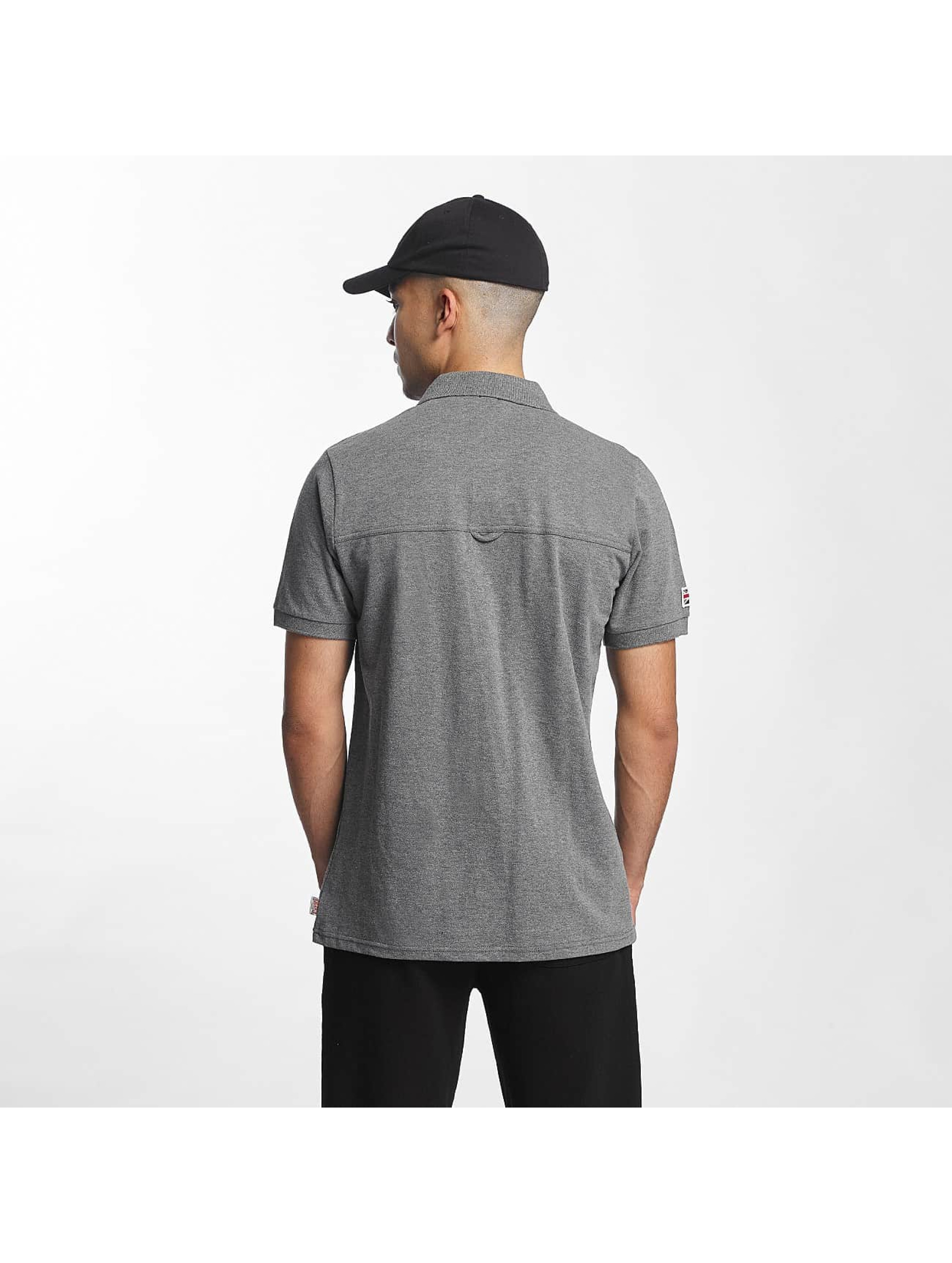 Lonsdale London Polo Dagenham Slim Fit gris