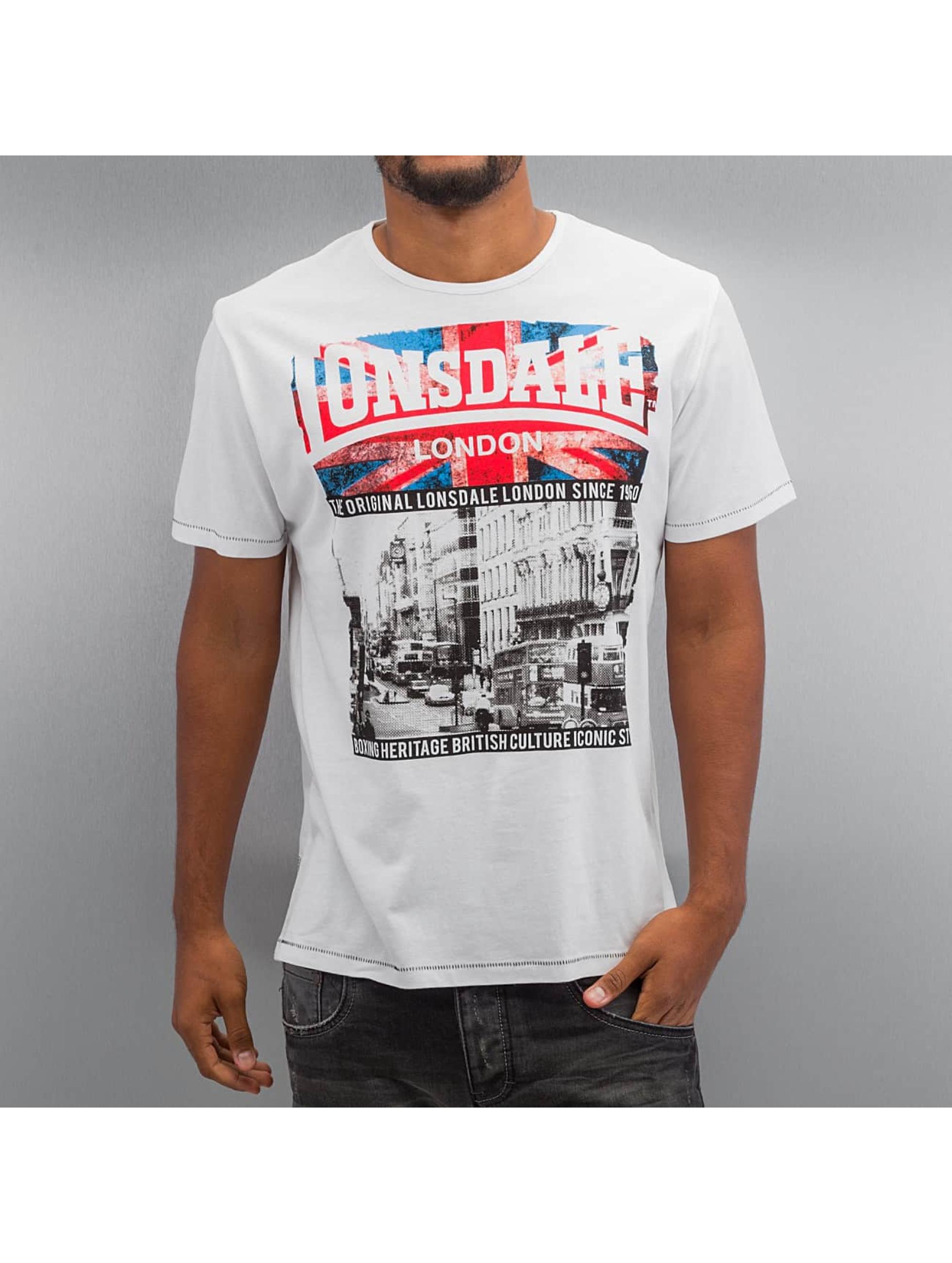 Lonsdale London T-paidat Kinnington Regular Fit valkoinen