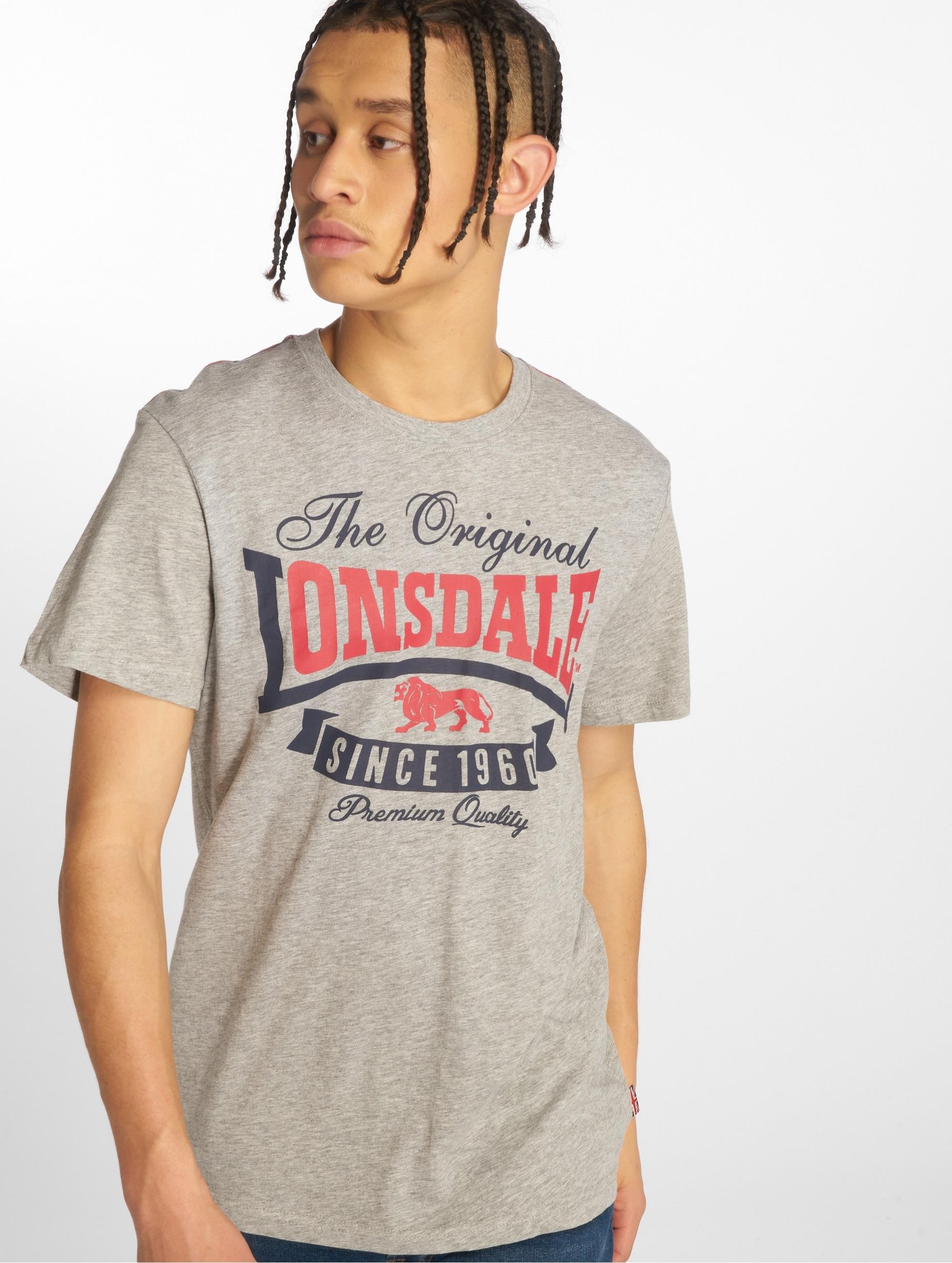 Grau Mellange Lonsdale T-Shirt Langsett